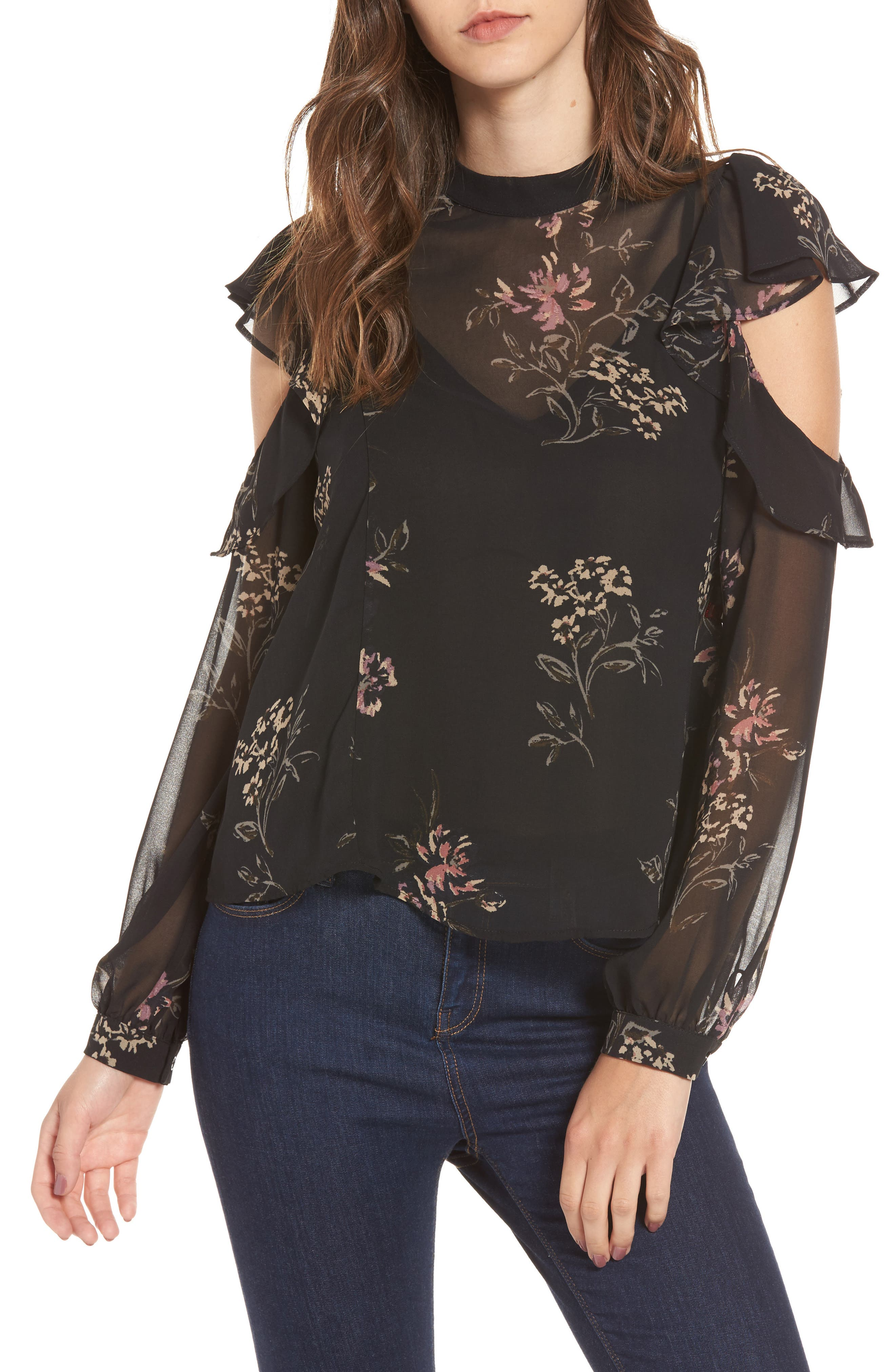 Main Image - ASTR the Label Chantelle Ruffle Top