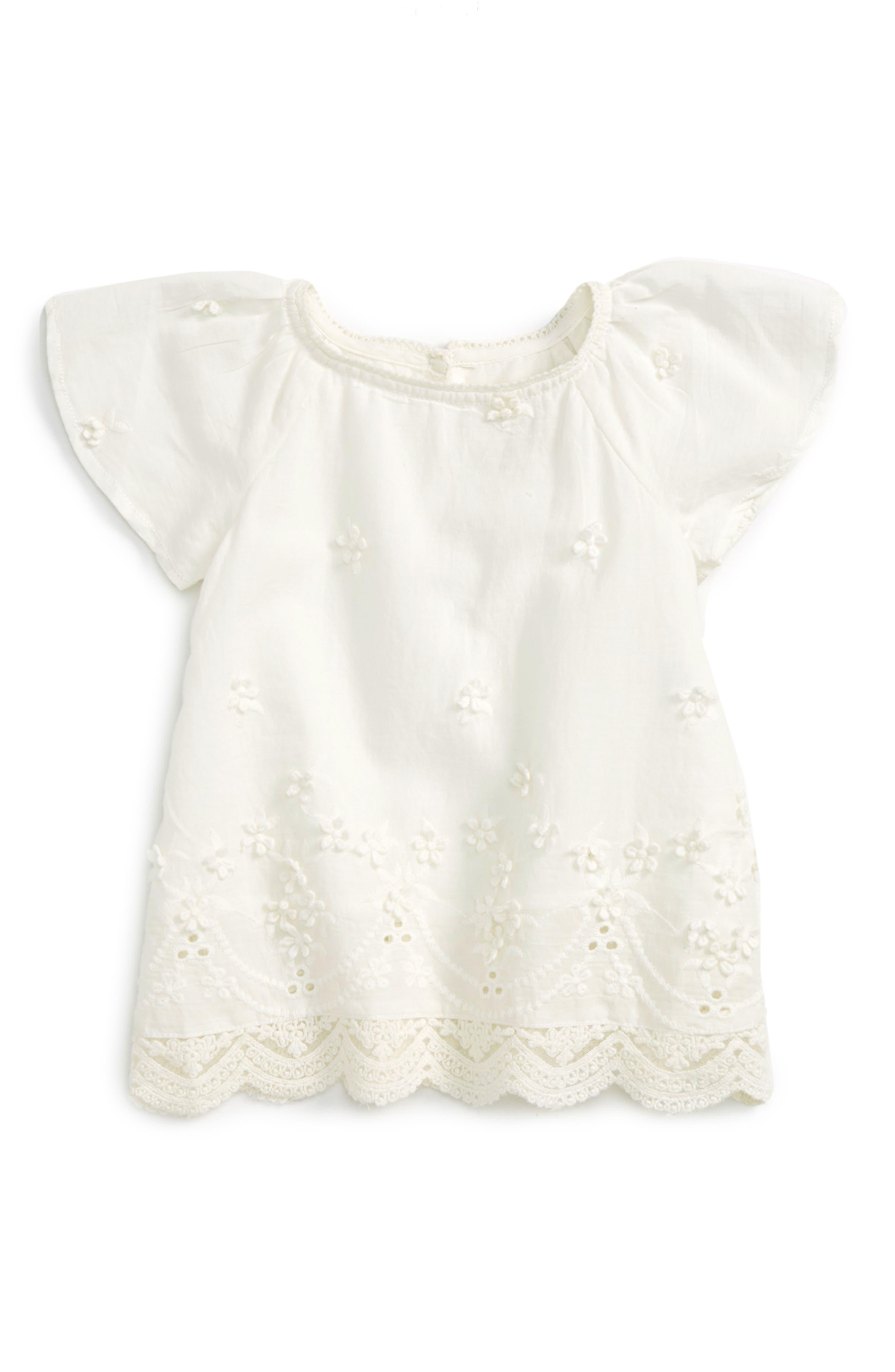 Peek Frances Eyelet Top (Baby Girls)