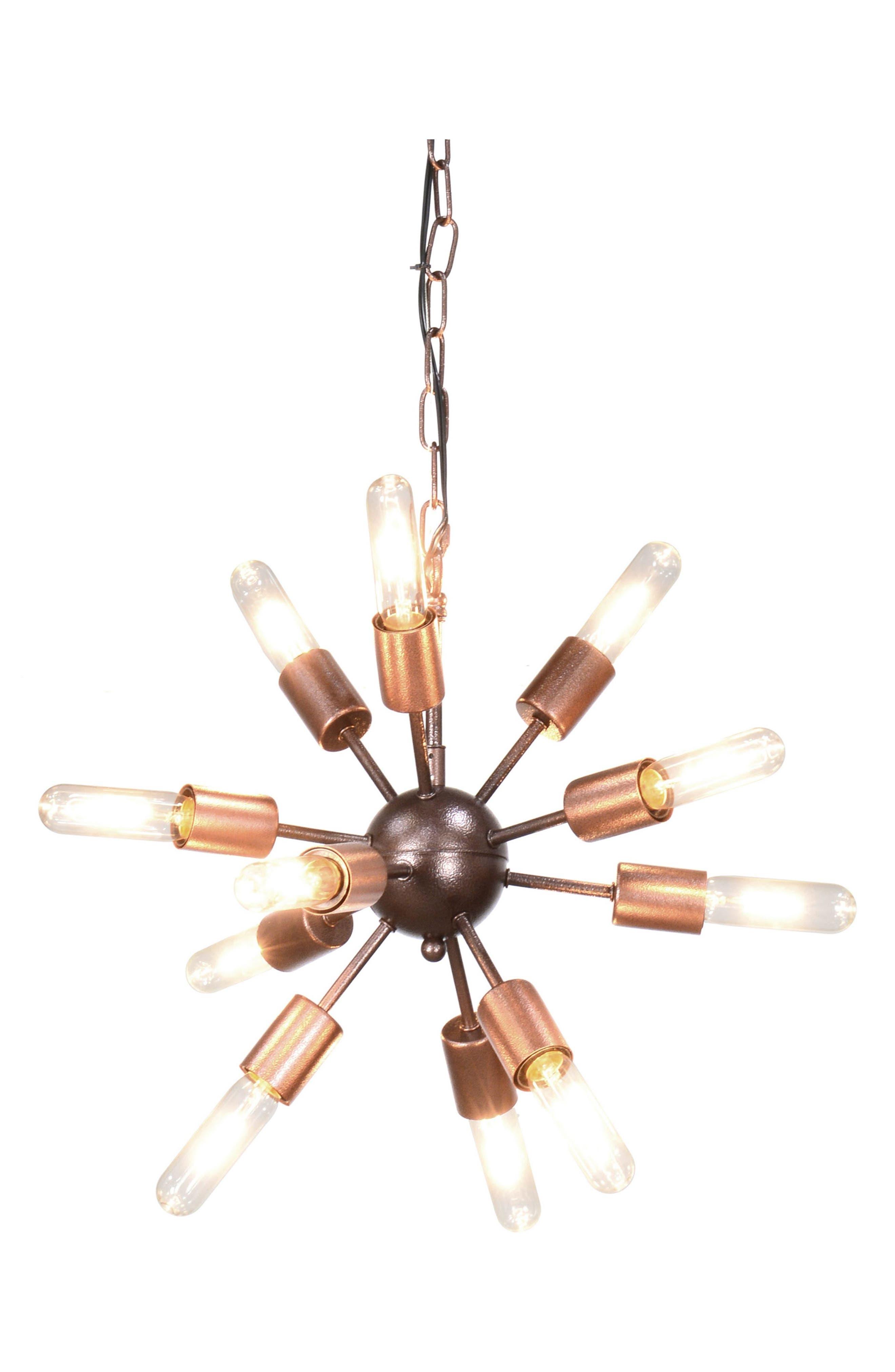 Alanya Starburst Pendant Chandelier,                         Main,                         color, Iron/ Antique Brown