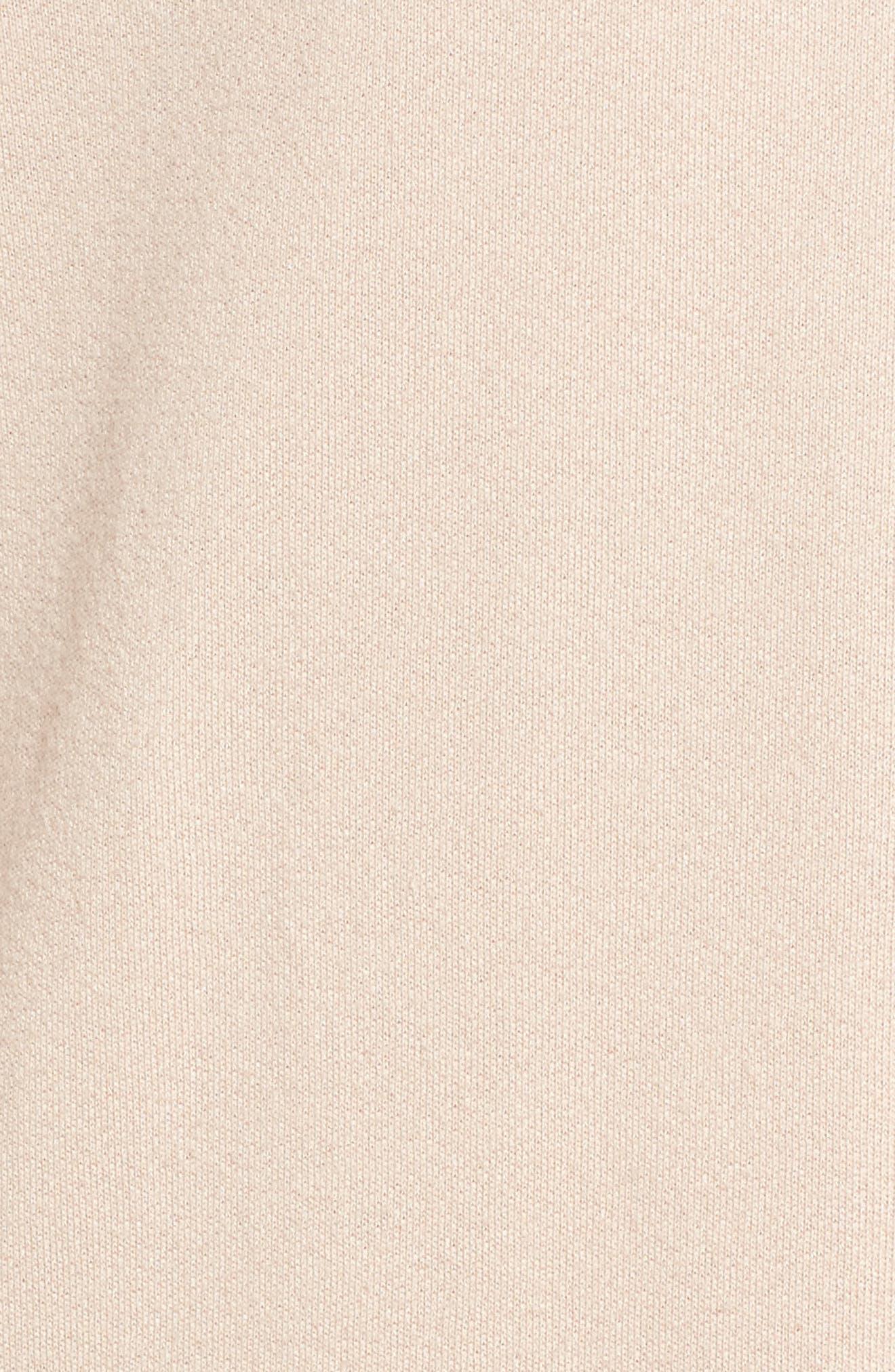 Blouson Sleeve Sweatshirt,                             Alternate thumbnail 5, color,                             Ivory Shell