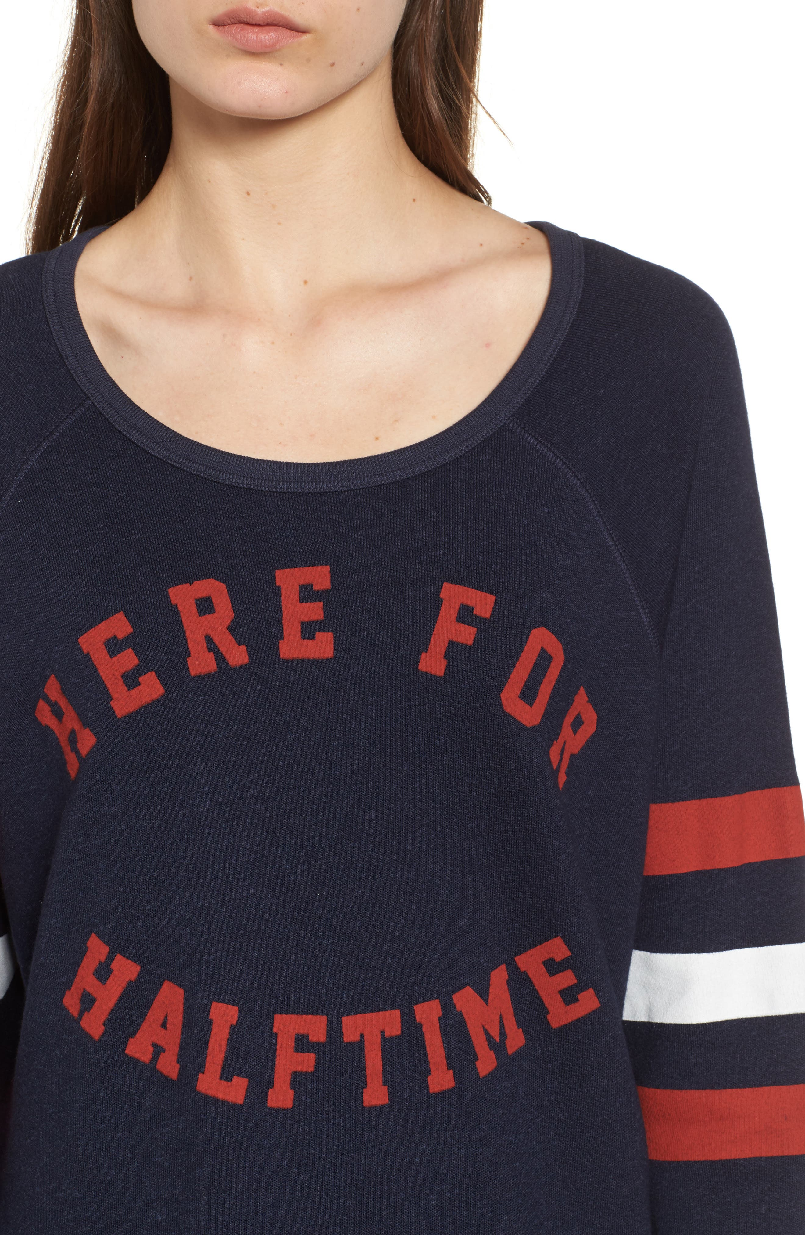 Here for Halftime Pullover,                             Alternate thumbnail 5, color,                             Navy