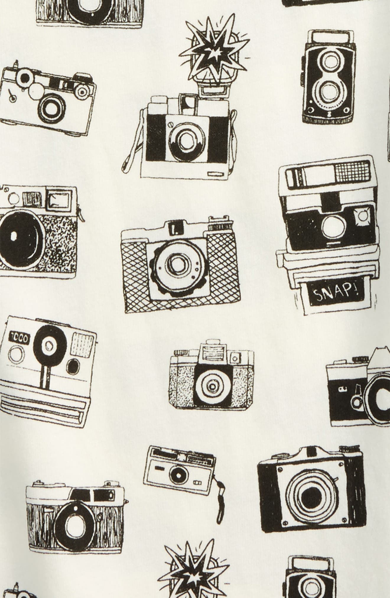 All Over Camera Graphic T-Shirt,                             Alternate thumbnail 2, color,                             White