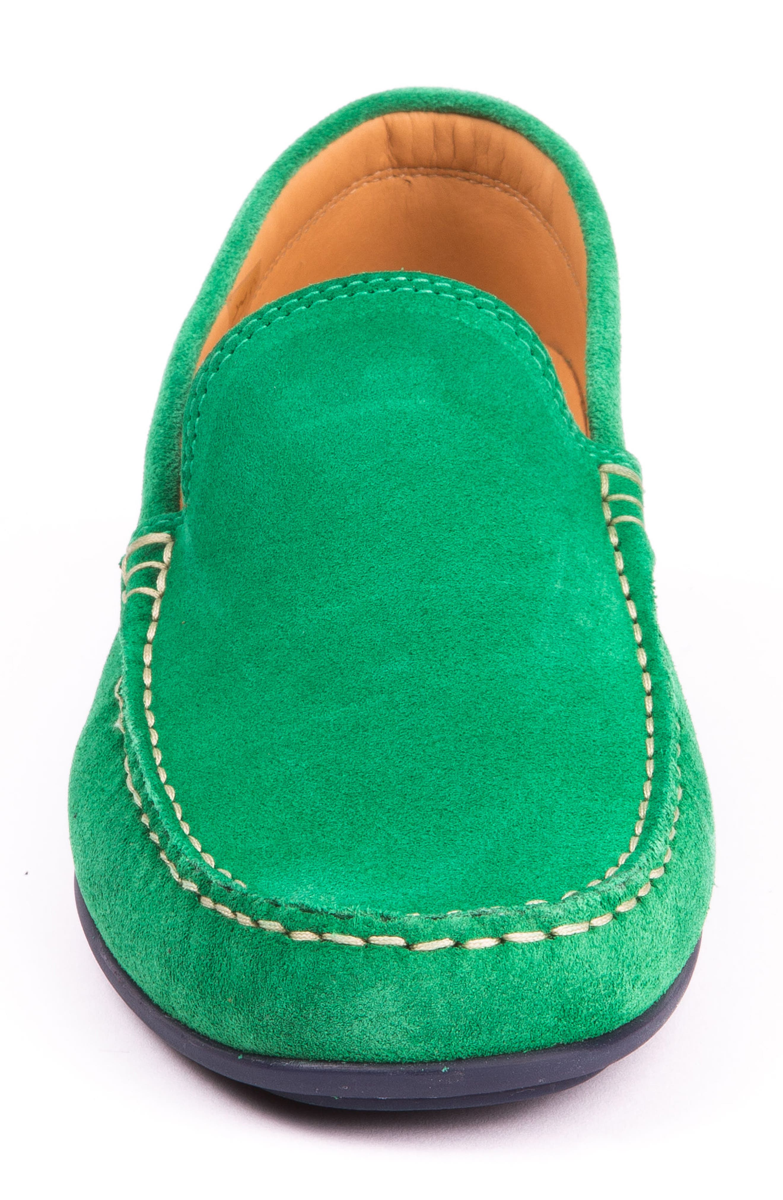 Fairways Driving Shoe,                             Alternate thumbnail 4, color,                             Green Suede
