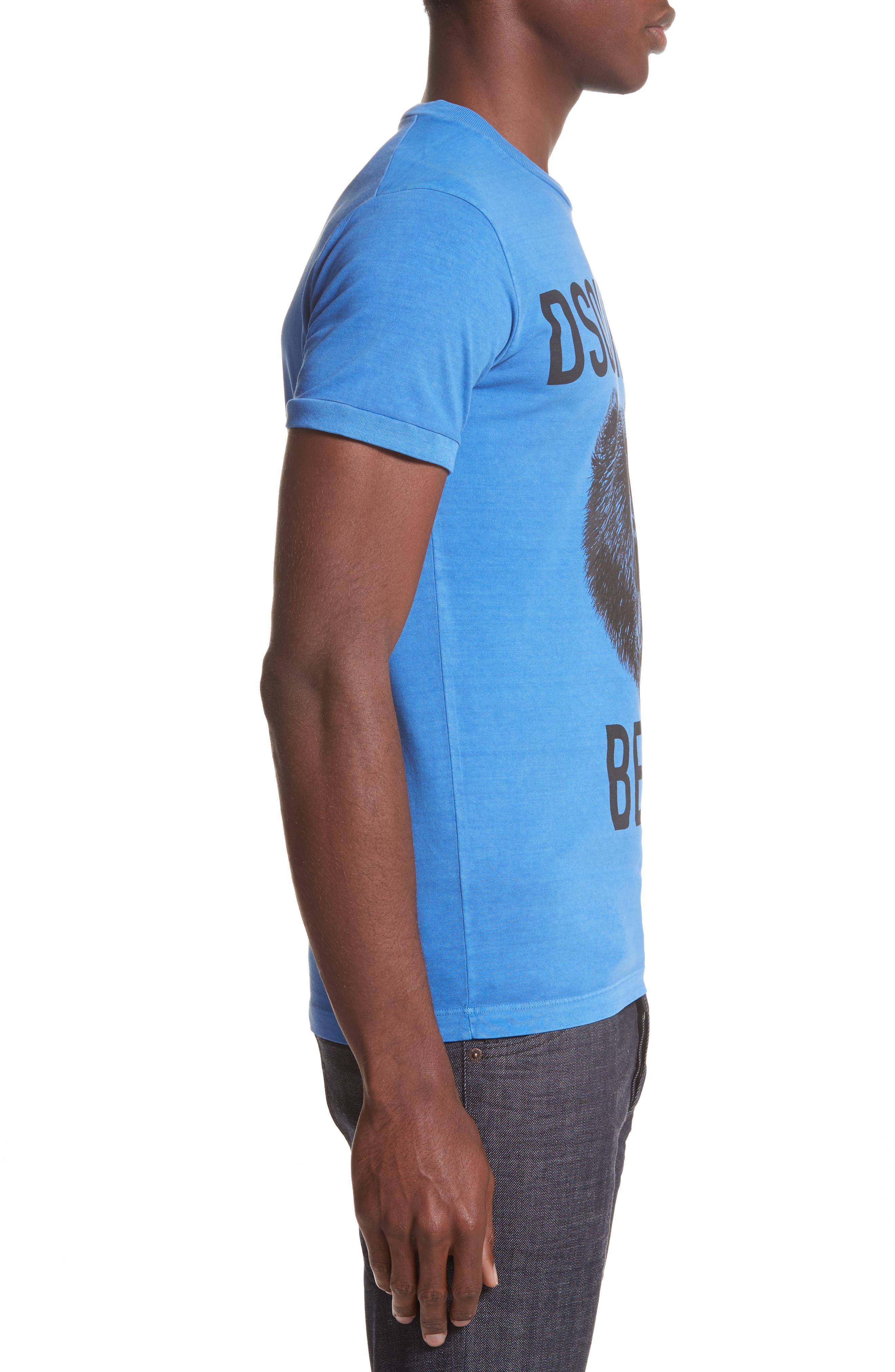 Bear Graphic T-Shirt,                             Alternate thumbnail 3, color,                             Light Blue