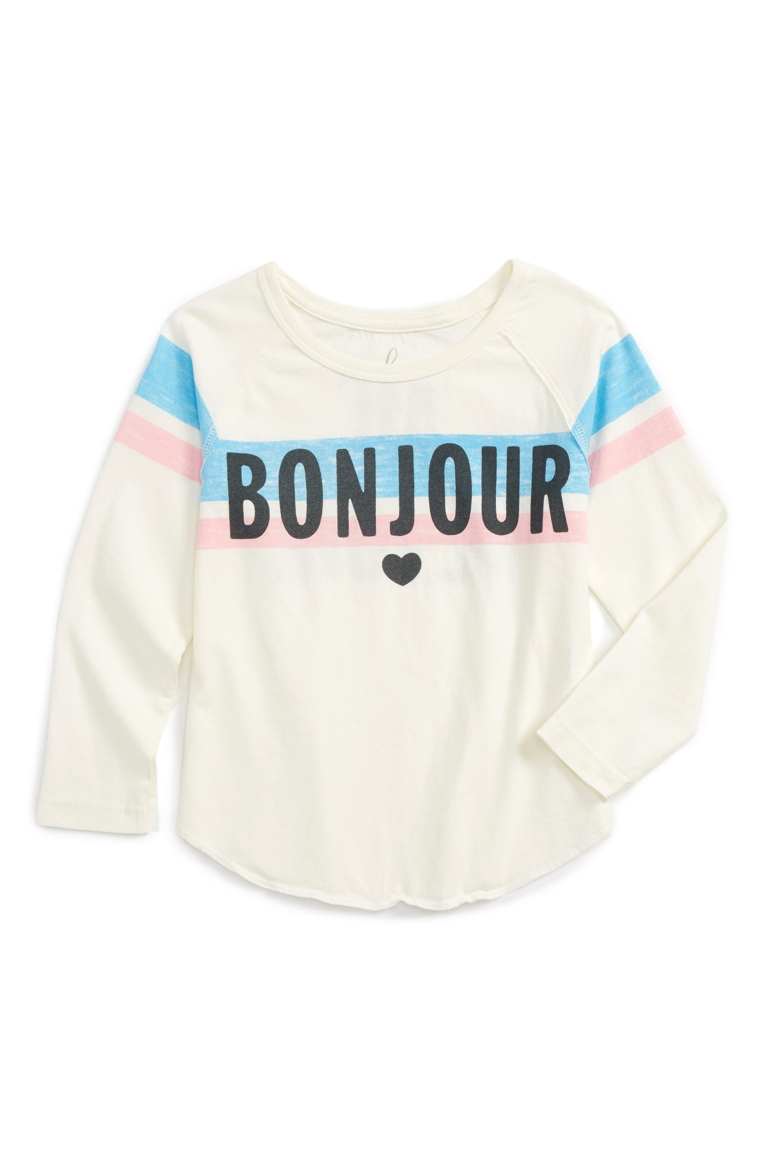 Peek Bonjour Tee (Todder Girls, Little Girls & Big Girls)