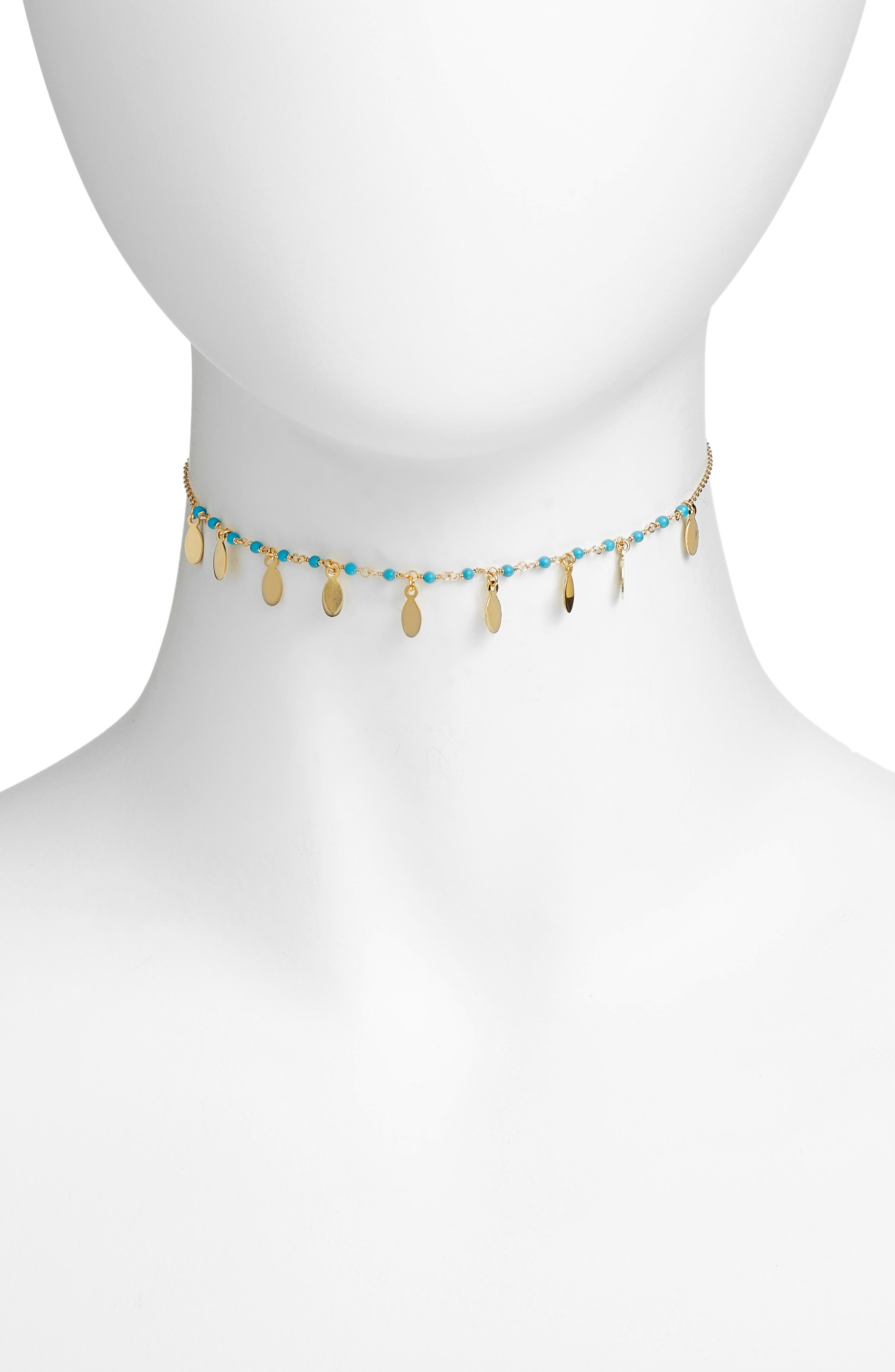 Link Choker Necklace,                         Main,                         color, Gold