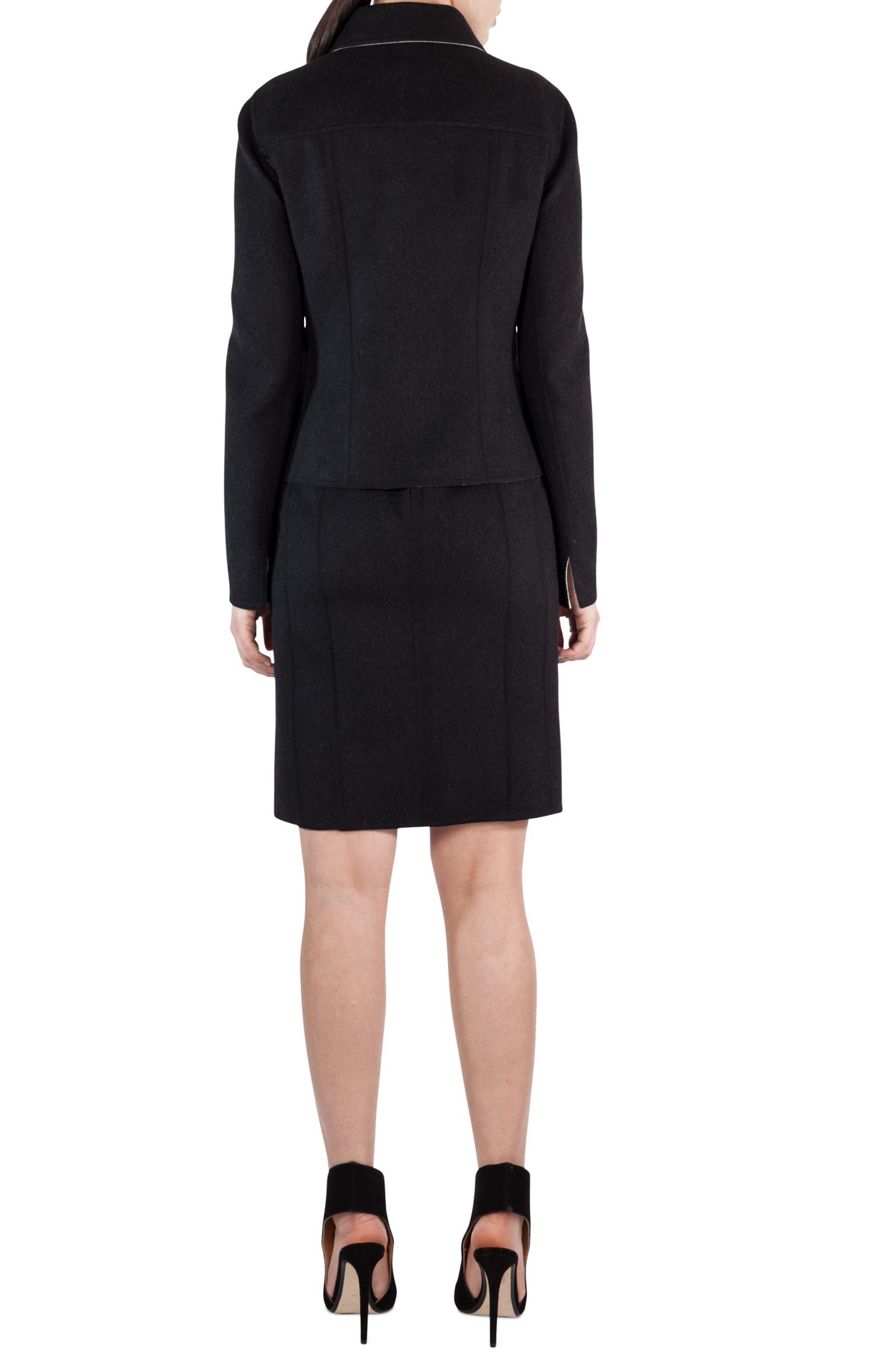 Alternate Image 3  - Akris Double Face Wool Reversible Bicolor Jacket