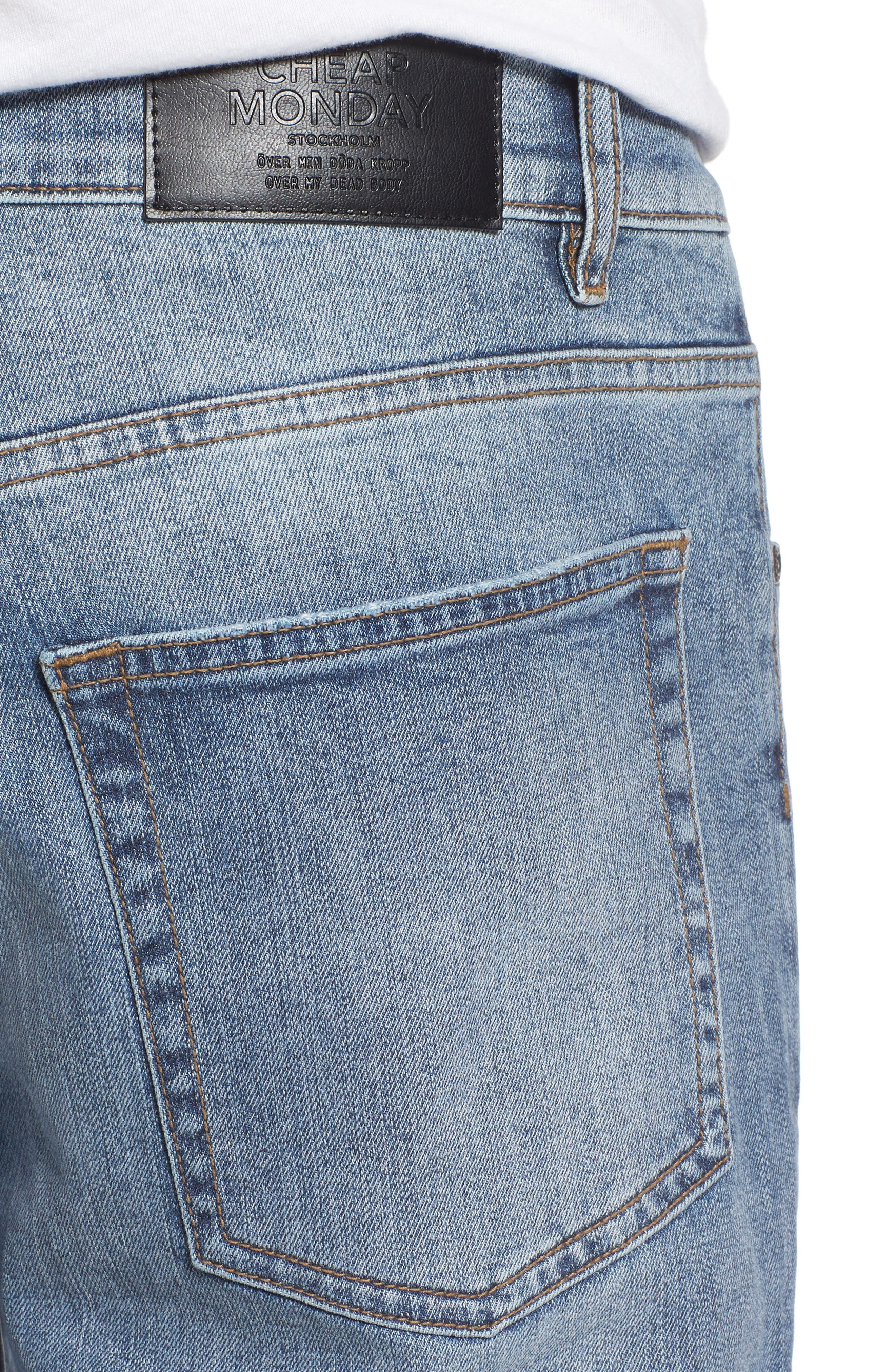 Alternate Image 4  - Cheap Monday Sonic Skinny Fit Jeans (Treble Blue)