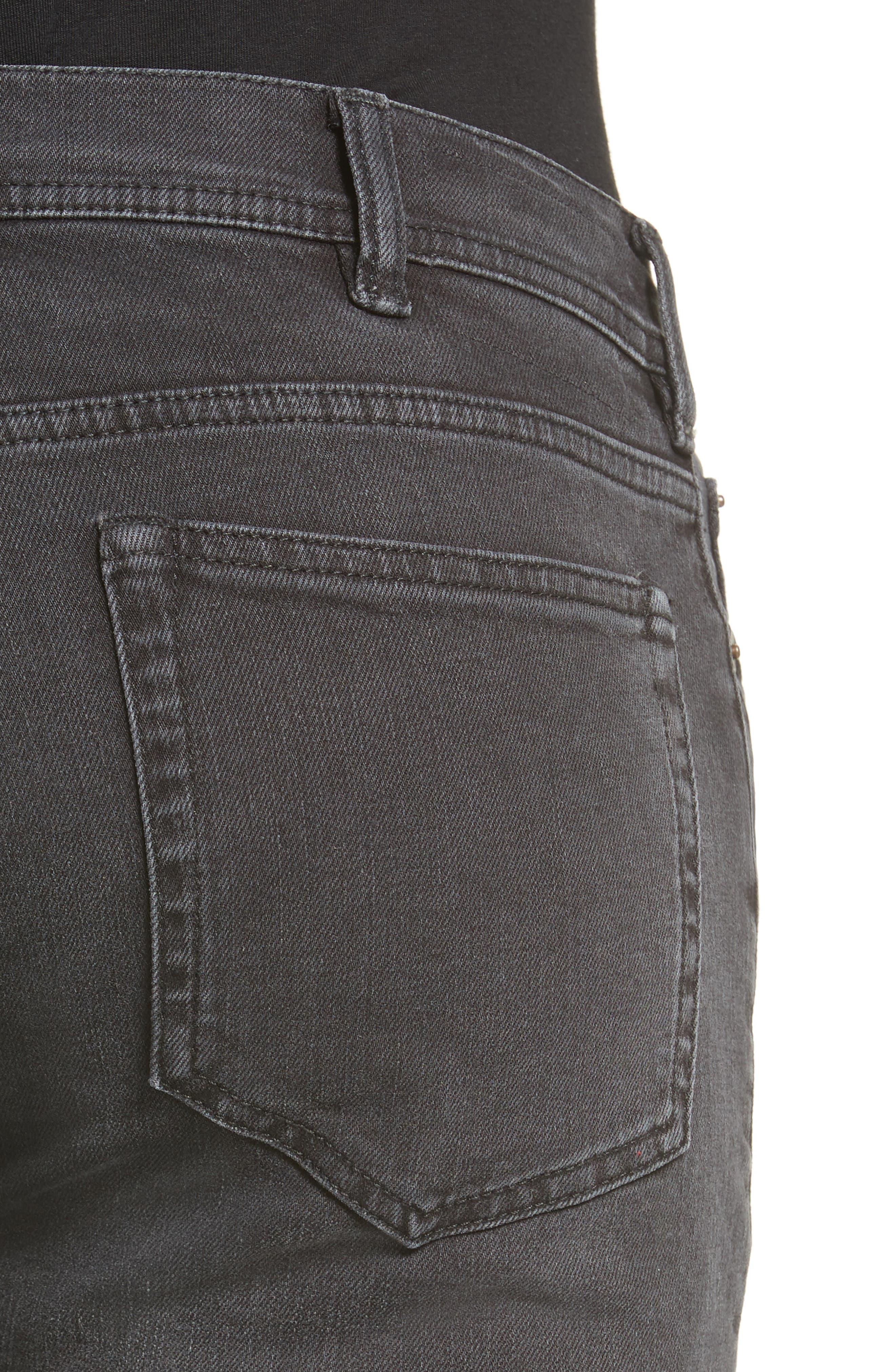 Alternate Image 4  - ACNE Studios North Skinny Fit Jeans (Used Black)