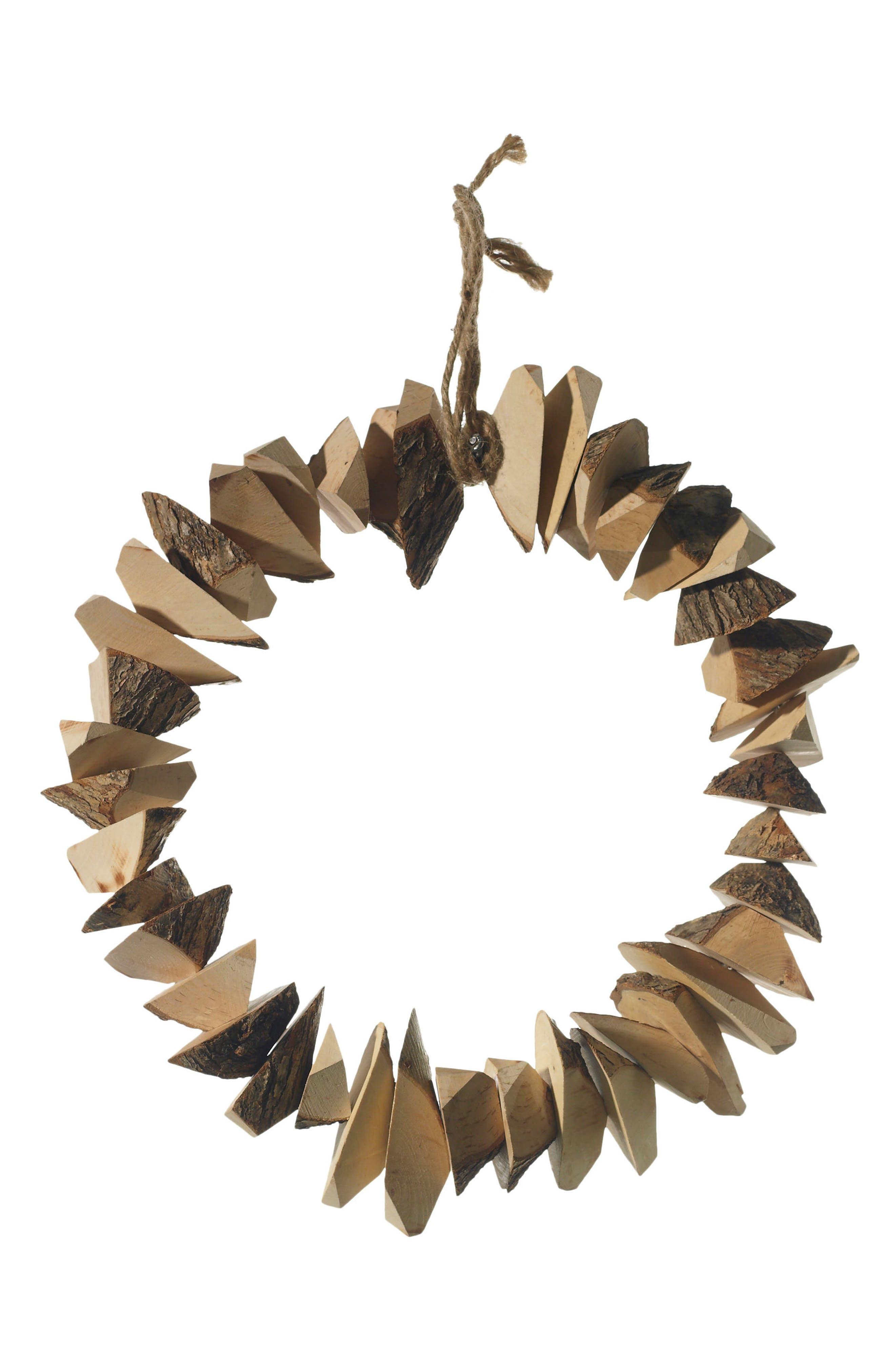 Woodman Wreath,                         Main,                         color, Brown