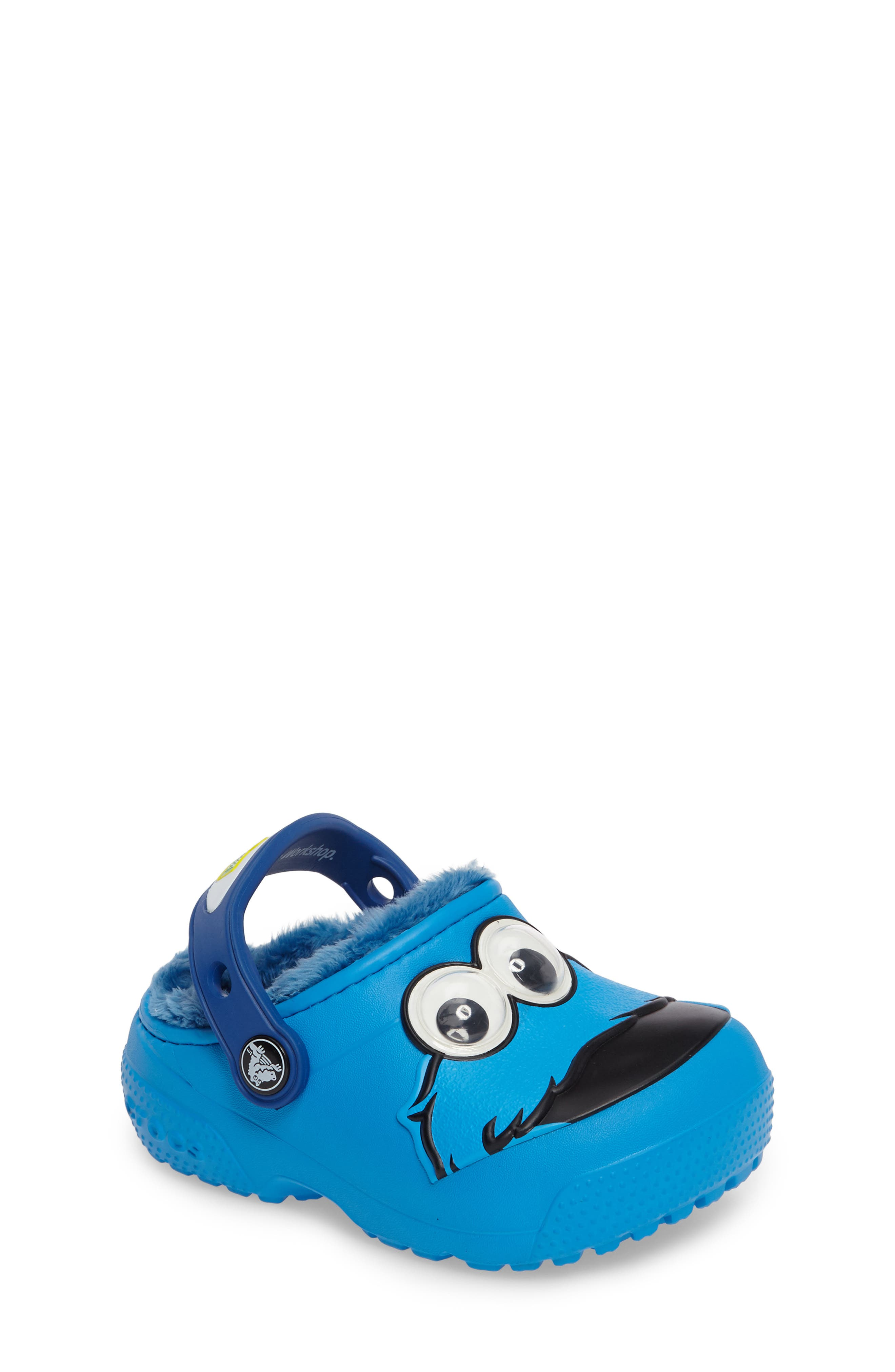CROCS™ Fun Lab Faux Fur Cookie Monster Clog (Walker, Toddler & Little Kid)