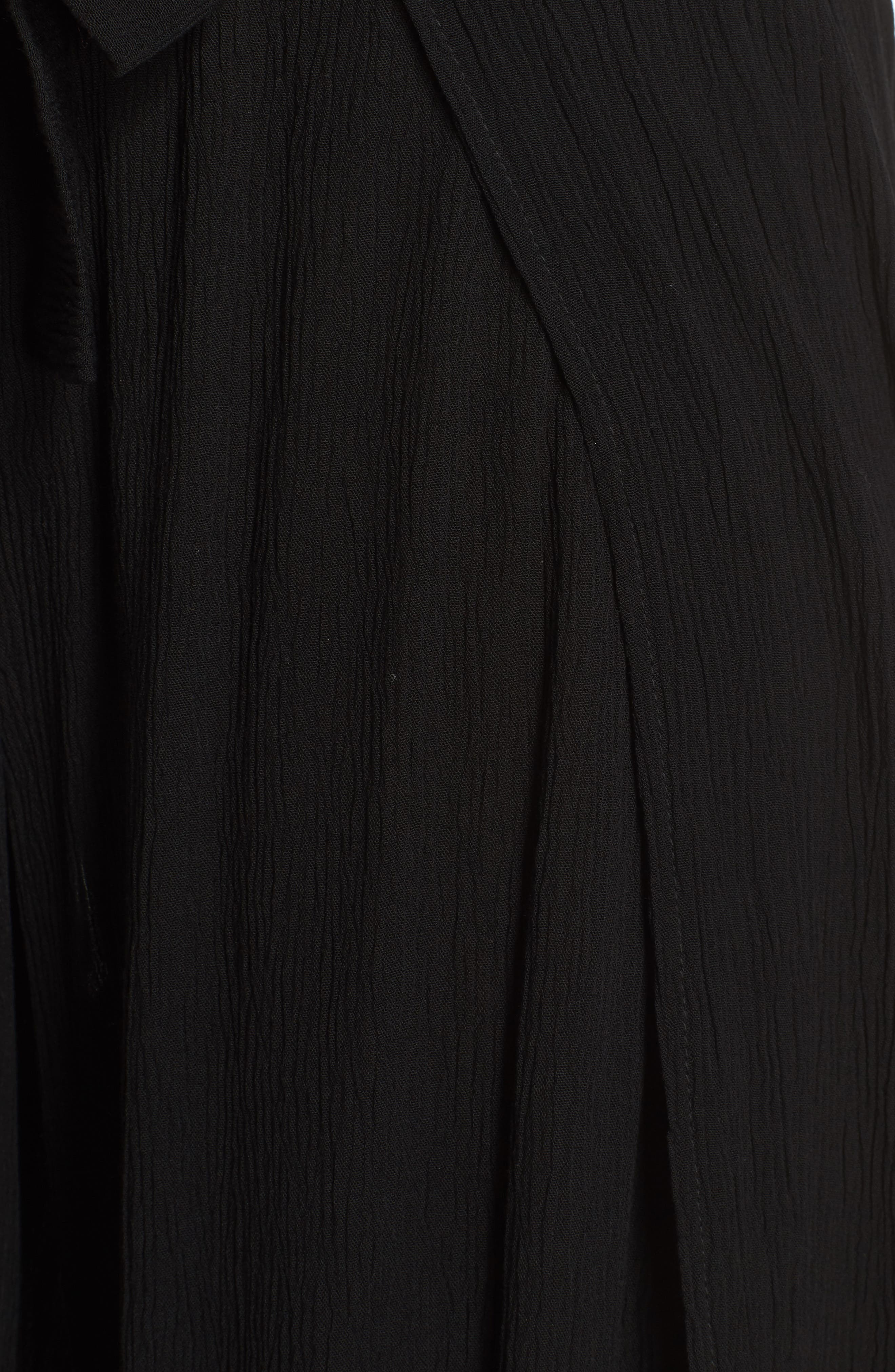 Modern Muse Cover-Up Flyaway Pants,                             Alternate thumbnail 5, color,                             Black