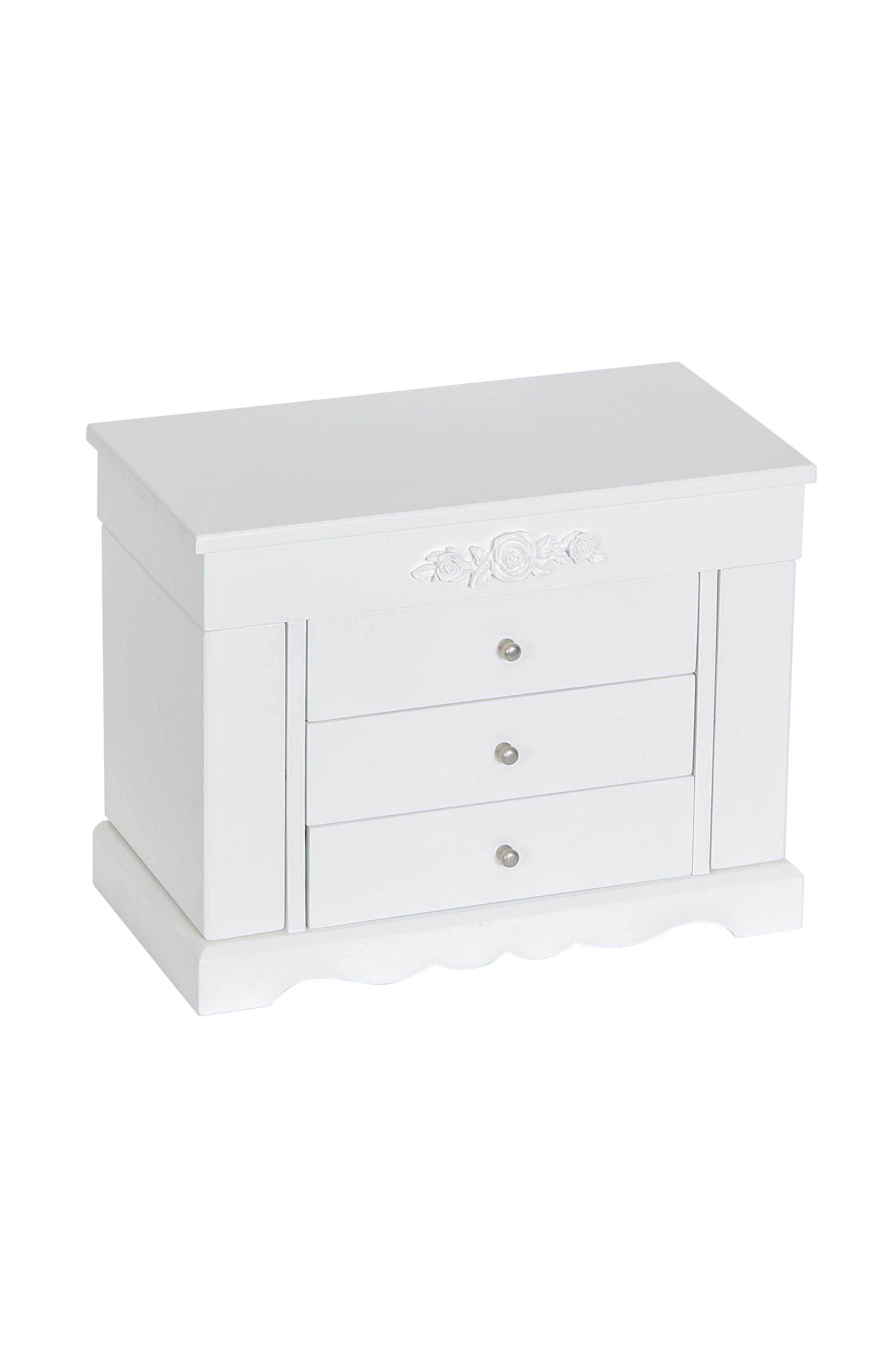 Montague Jewelry Box,                             Main thumbnail 1, color,                             White