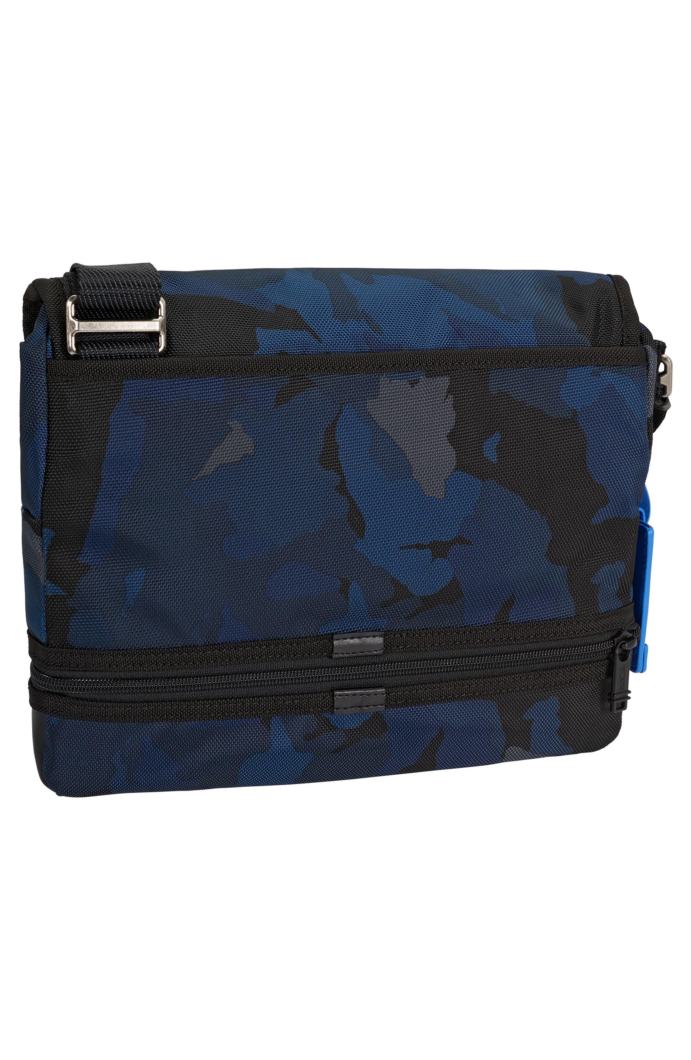 Alpha Bravo Beale Messenger Bag,                             Alternate thumbnail 4, color,                             Blue Camo