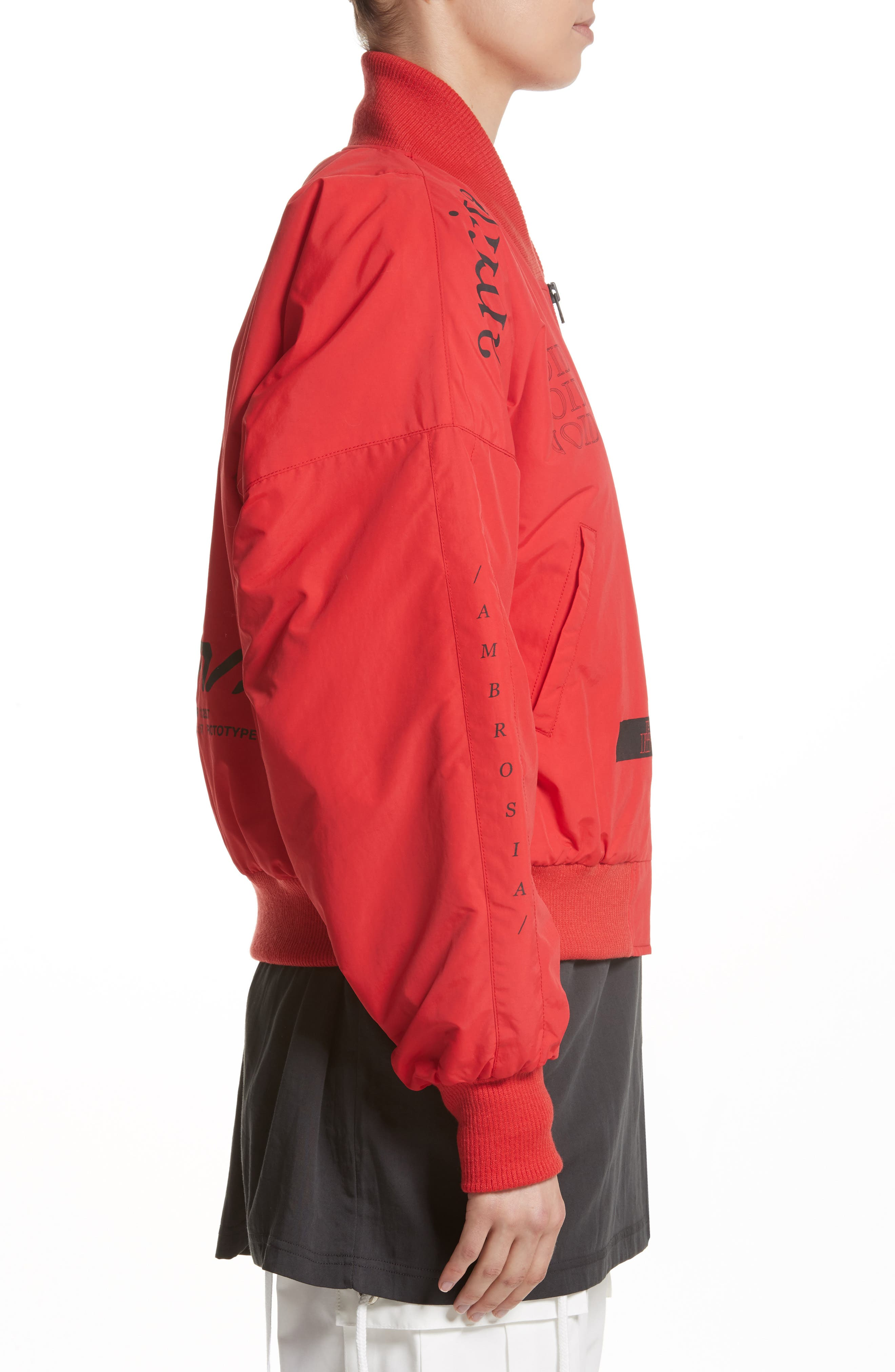 Kaneda Bomber Jacket,                             Alternate thumbnail 3, color,                             Red