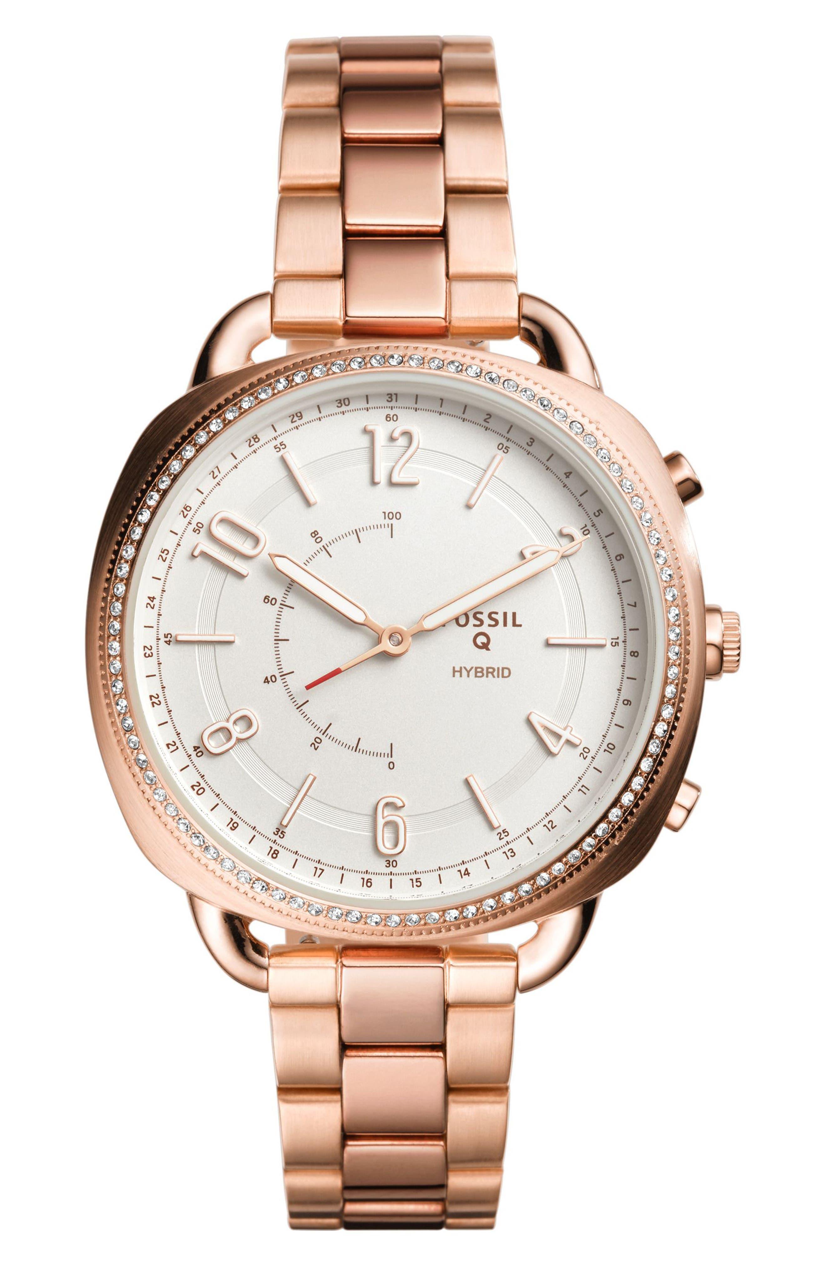 Accomplice Smart Bracelet Watch, 38mm,                         Main,                         color, Rose Gold/ White/ Rose Gold