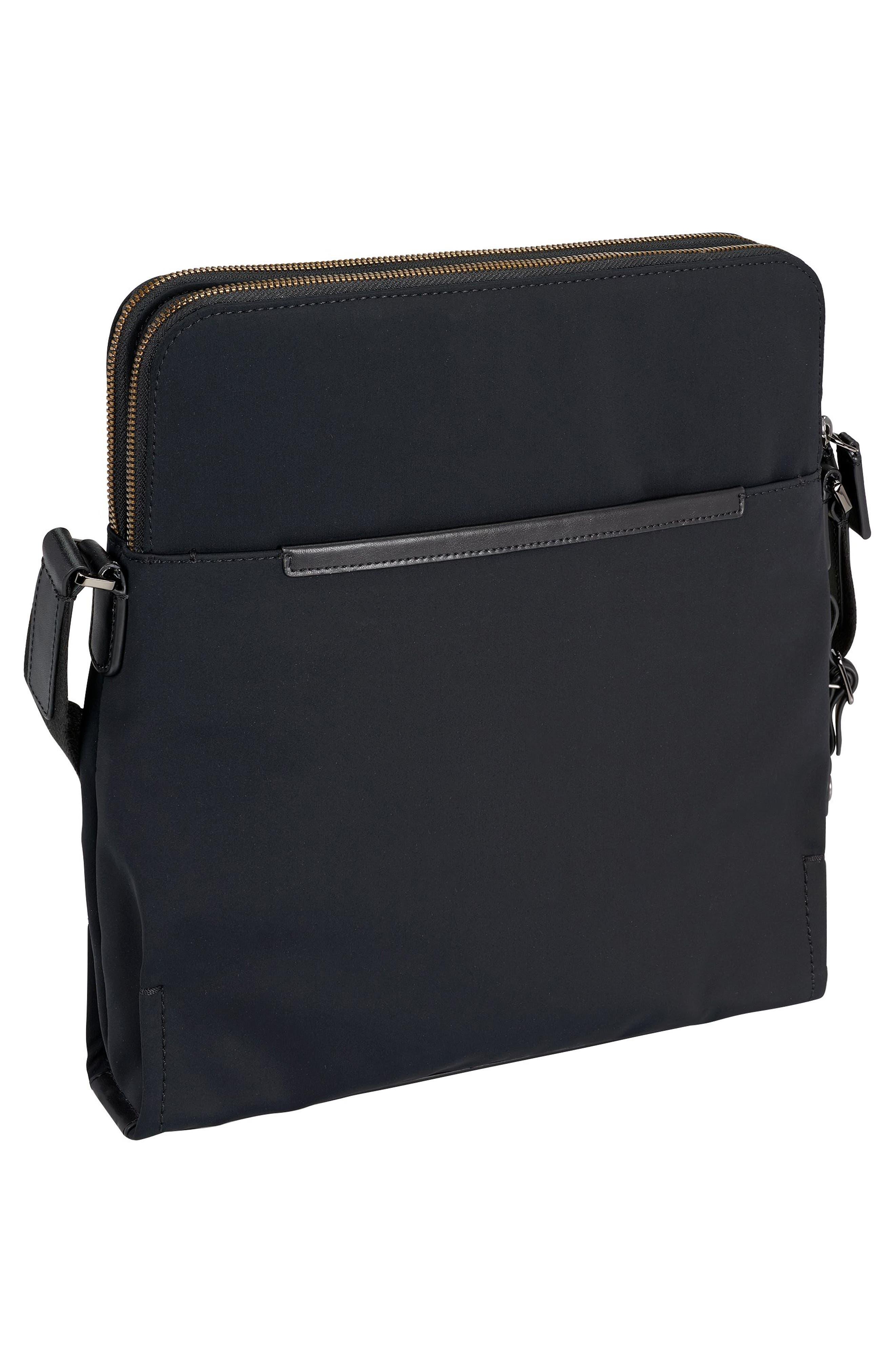 Harrison Stratton Messenger Bag,                             Alternate thumbnail 6, color,                             Black Nylon
