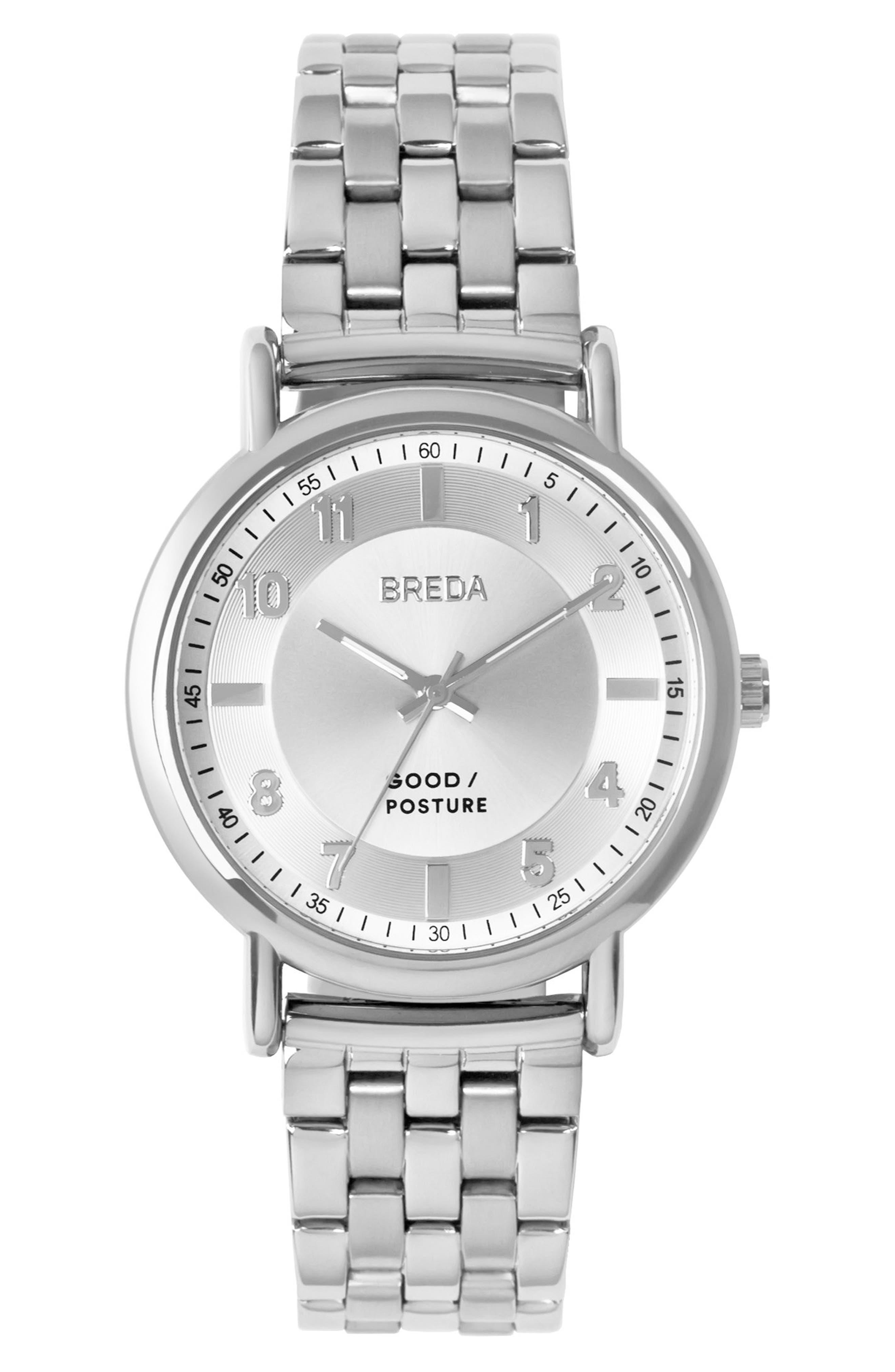 Main Image - BREDA Blossom Round Bracelet Watch, 41mm