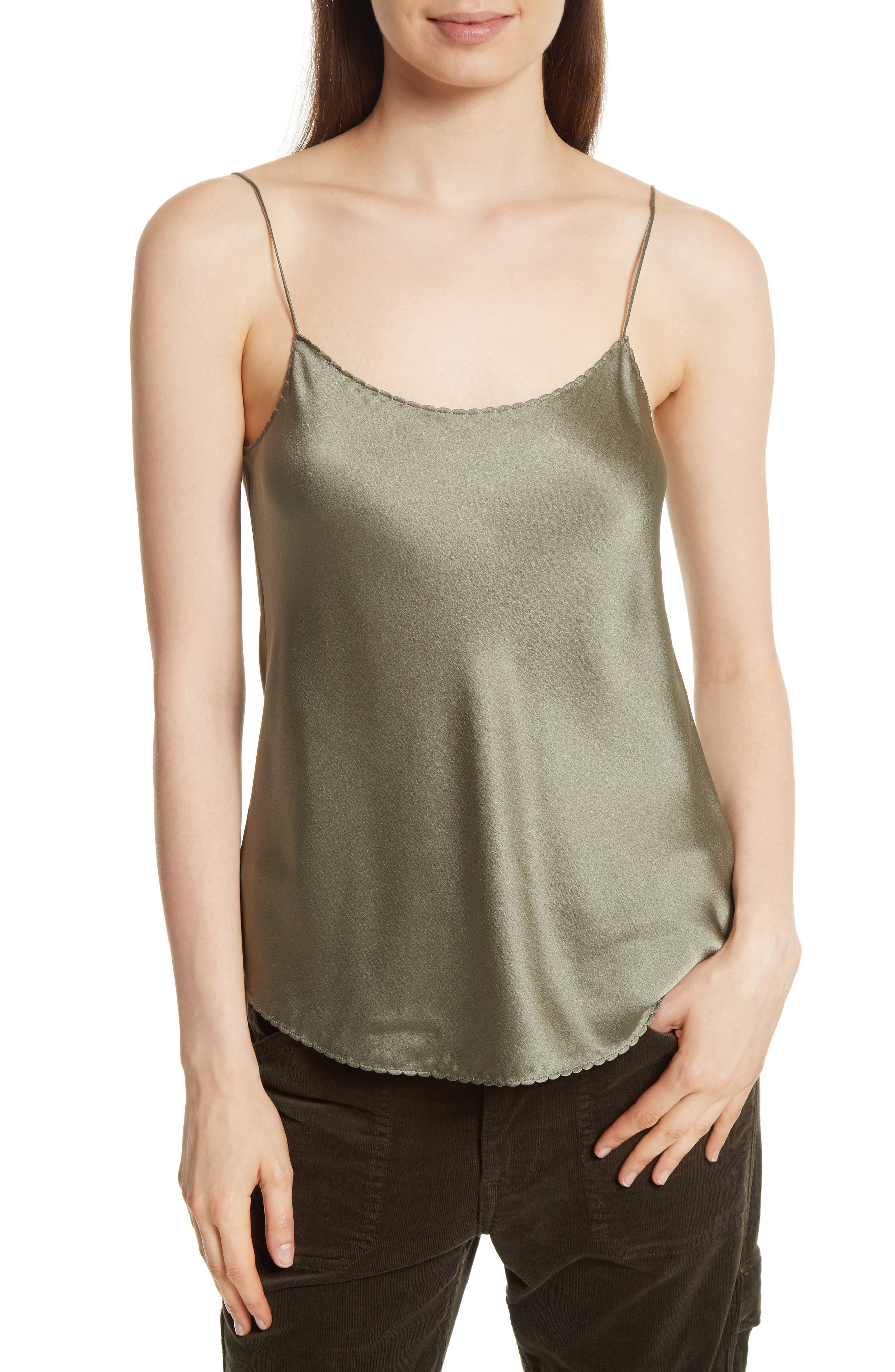 Alternate Image 1 Selected - Vince Scallop Satin Camisole