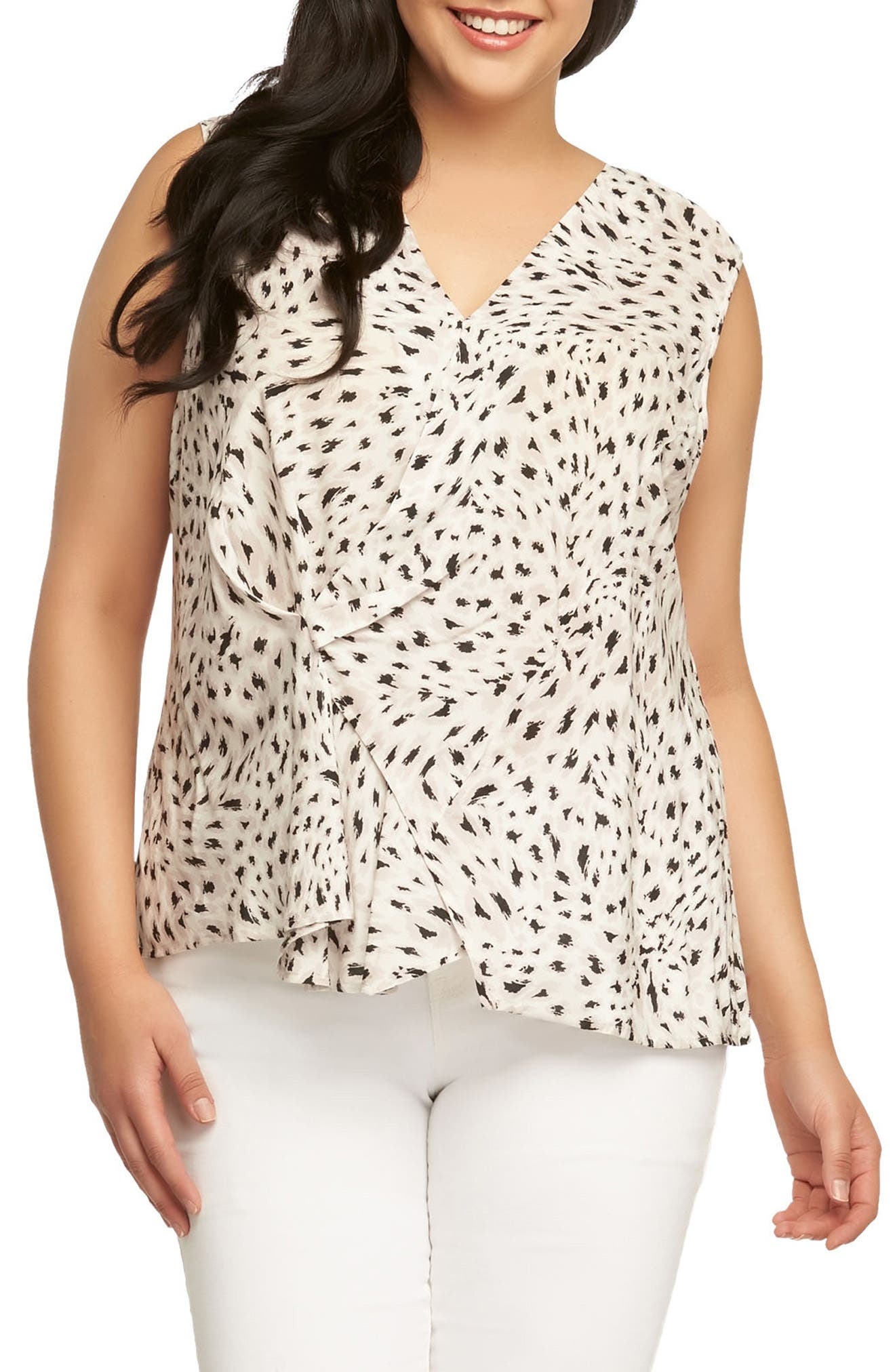 Patti Leopard Print Top,                         Main,                         color, Autumn Leopard