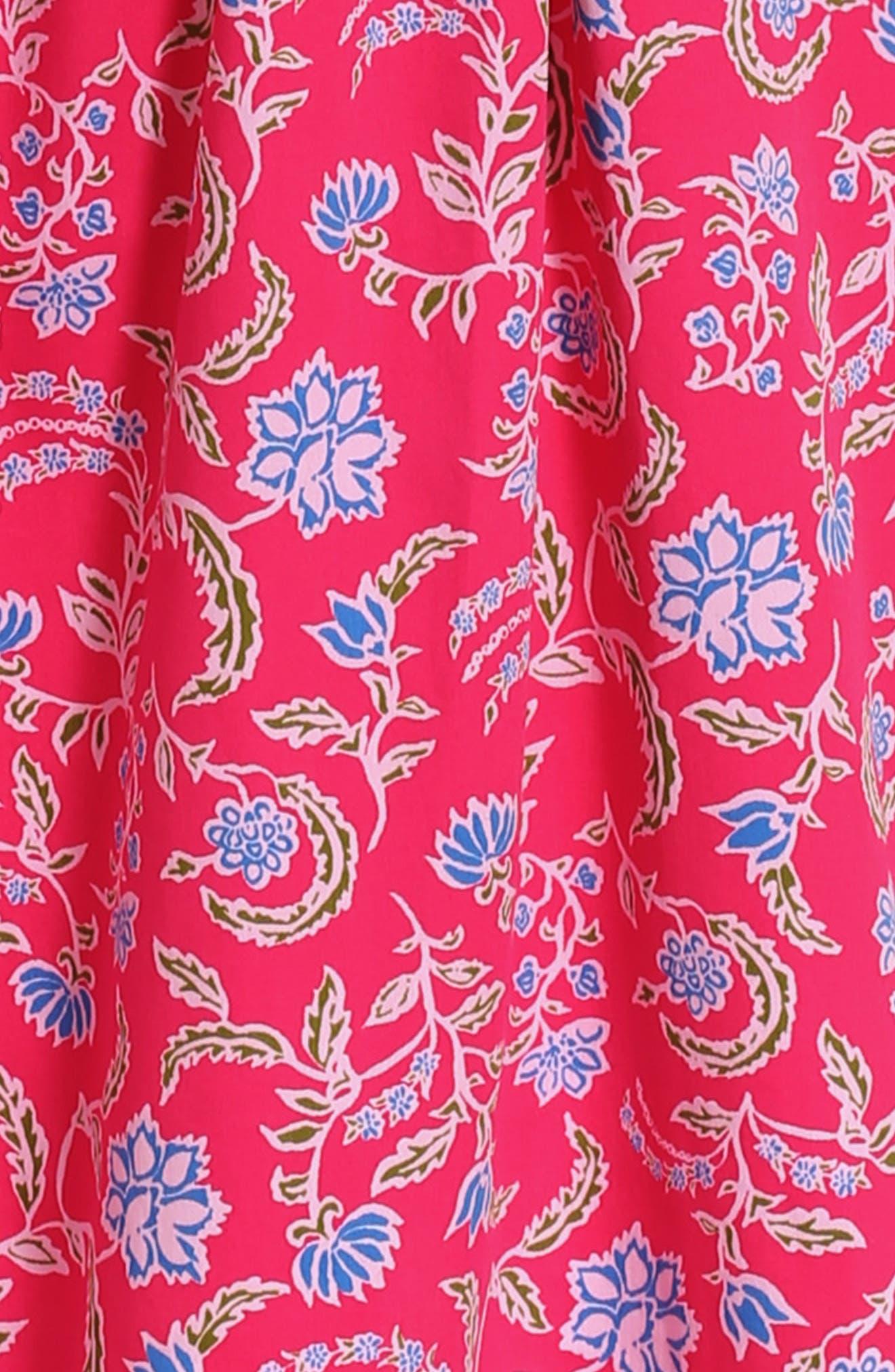 Alternate Image 3  - Oscar de la Renta Lotus Flower Dress (Big Girls)