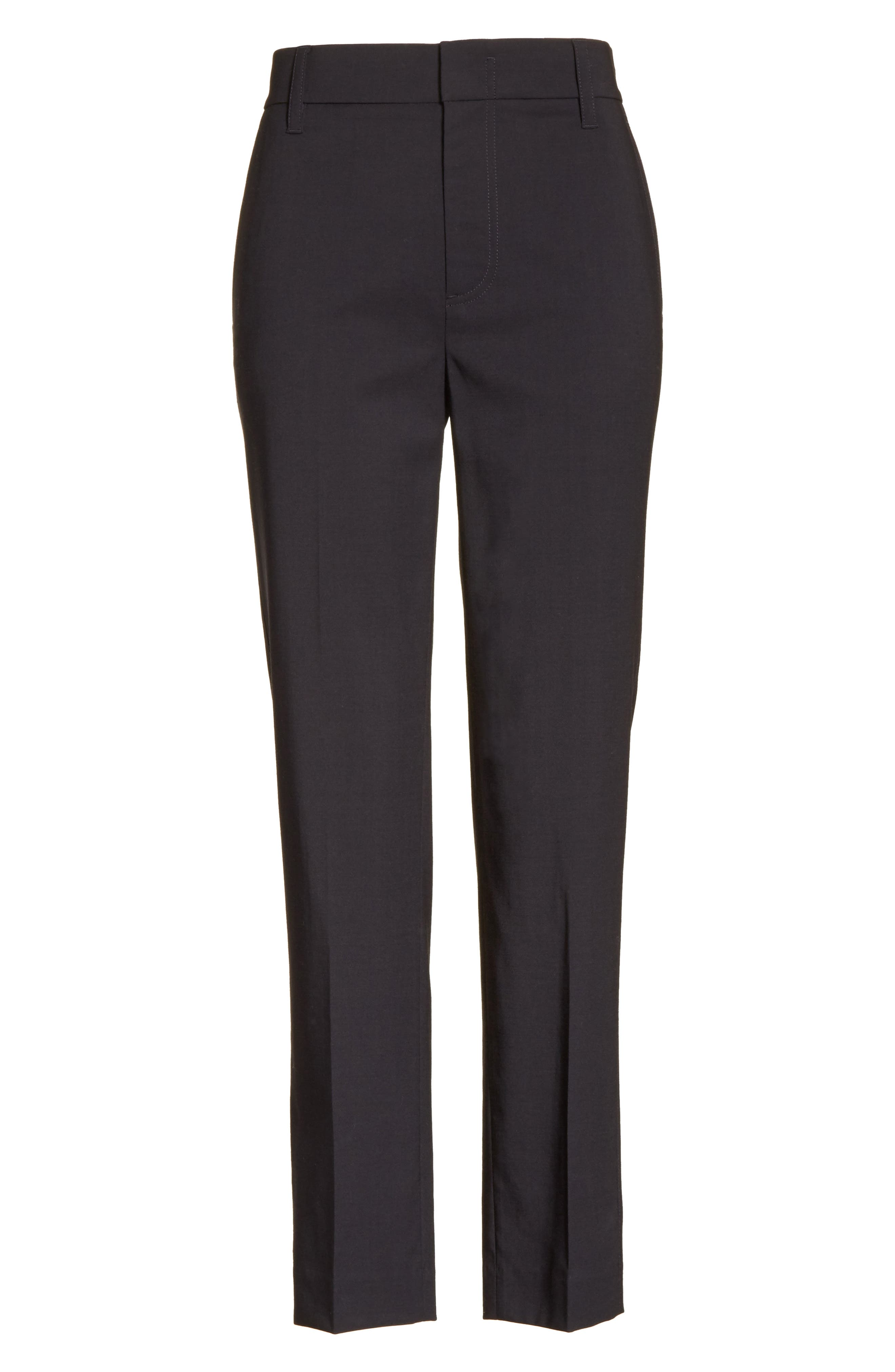 Tapered Ankle Trousers,                             Alternate thumbnail 6, color,                             Coastal
