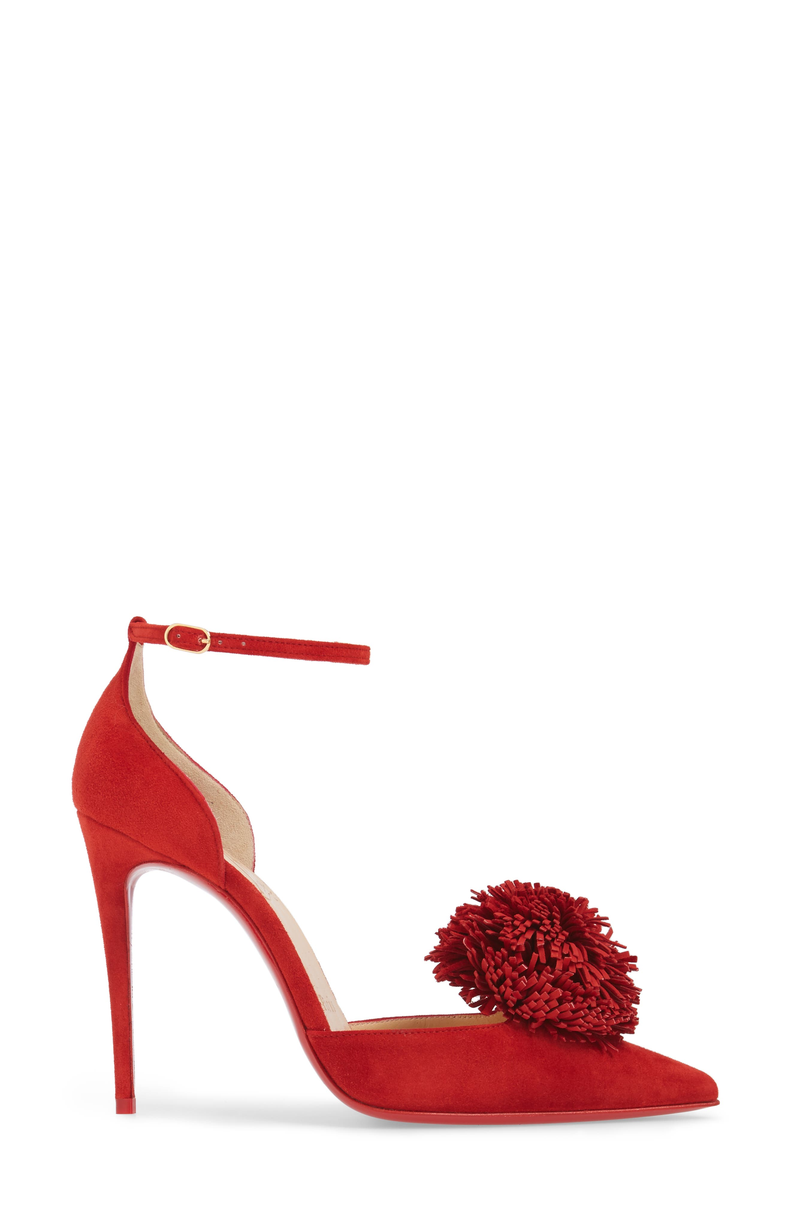 Alternate Image 3  - Christian Louboutin Tsarou Pom Ankle Strap Pump (Women)