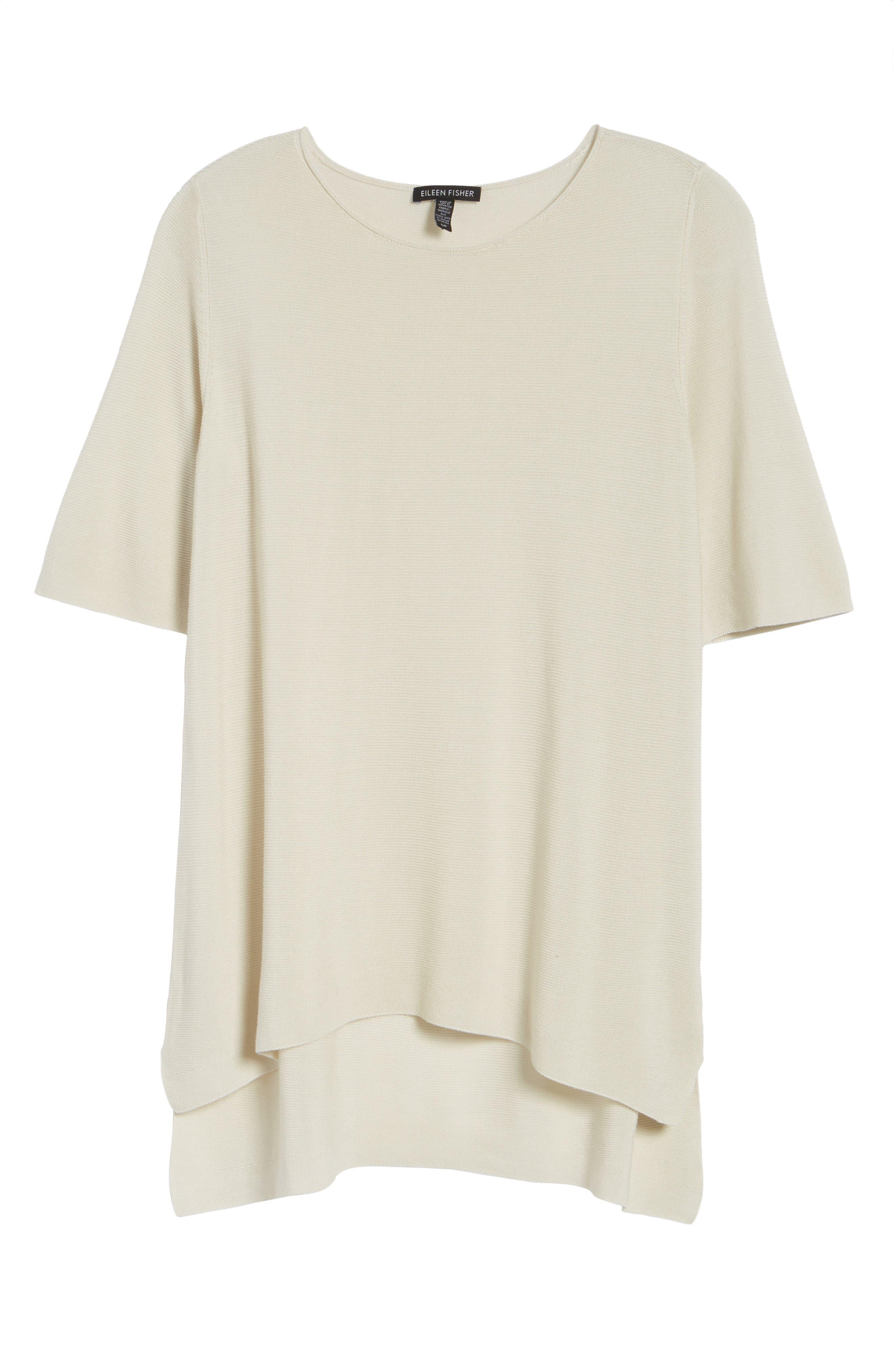 Alternate Image 6  - Eileen Fisher Tencel® Knit Top (Regular & Petite)