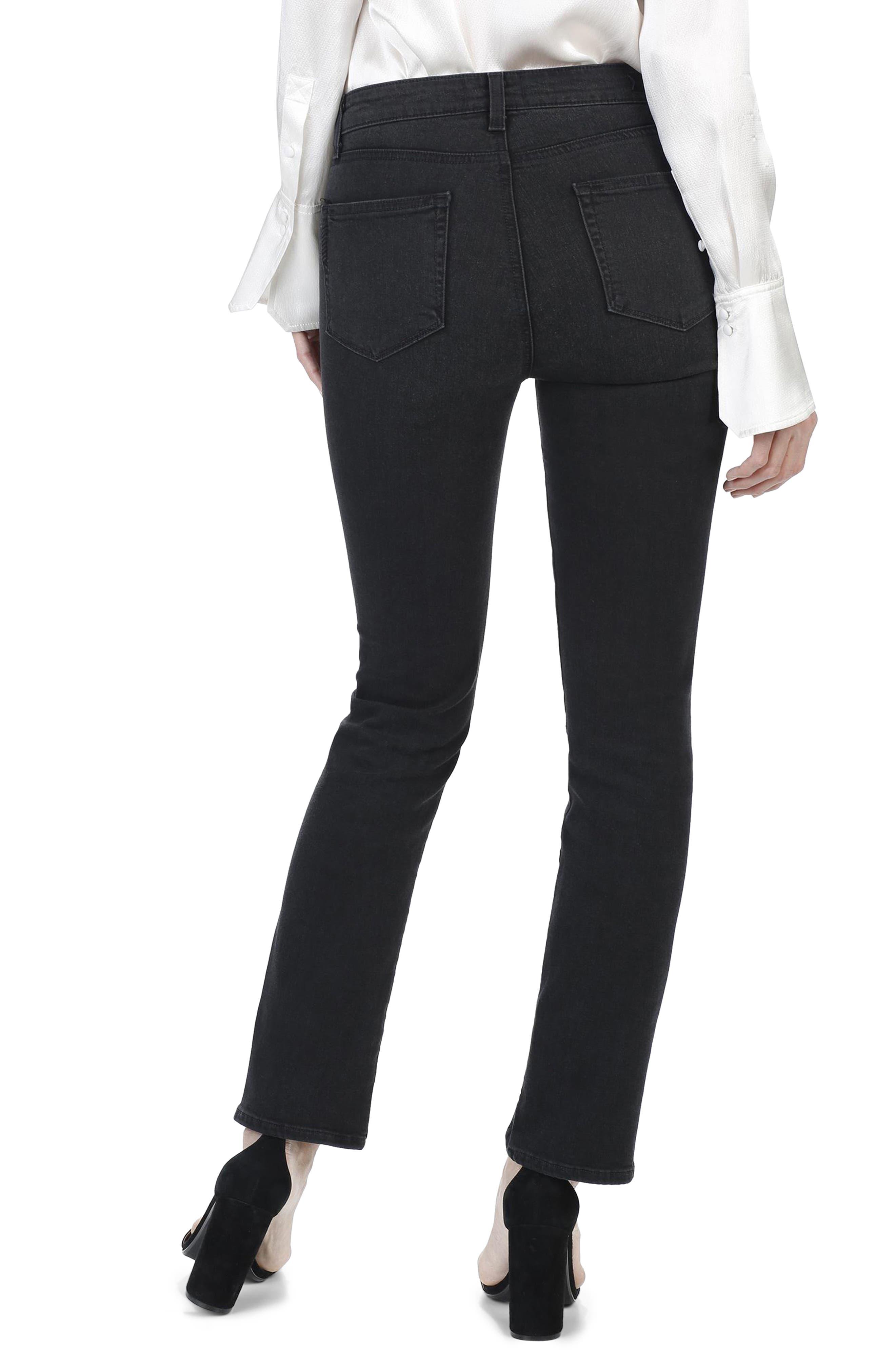 Julia High Waist Straight Leg Jeans with Twisted Seams,                             Alternate thumbnail 3, color,                             Black Fog
