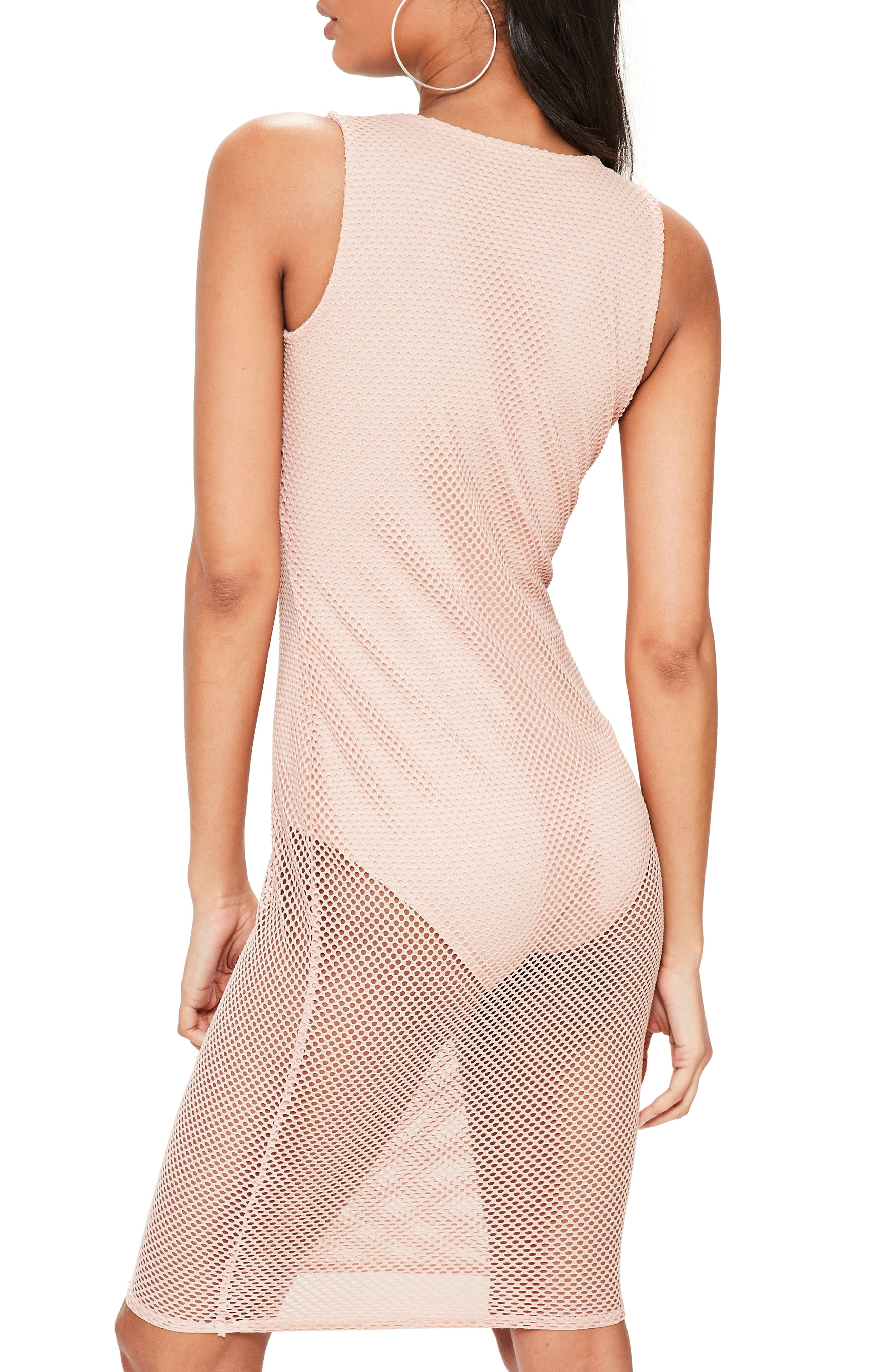 Alternate Image 2  - Missguided Fishnet Sleeveless Dress