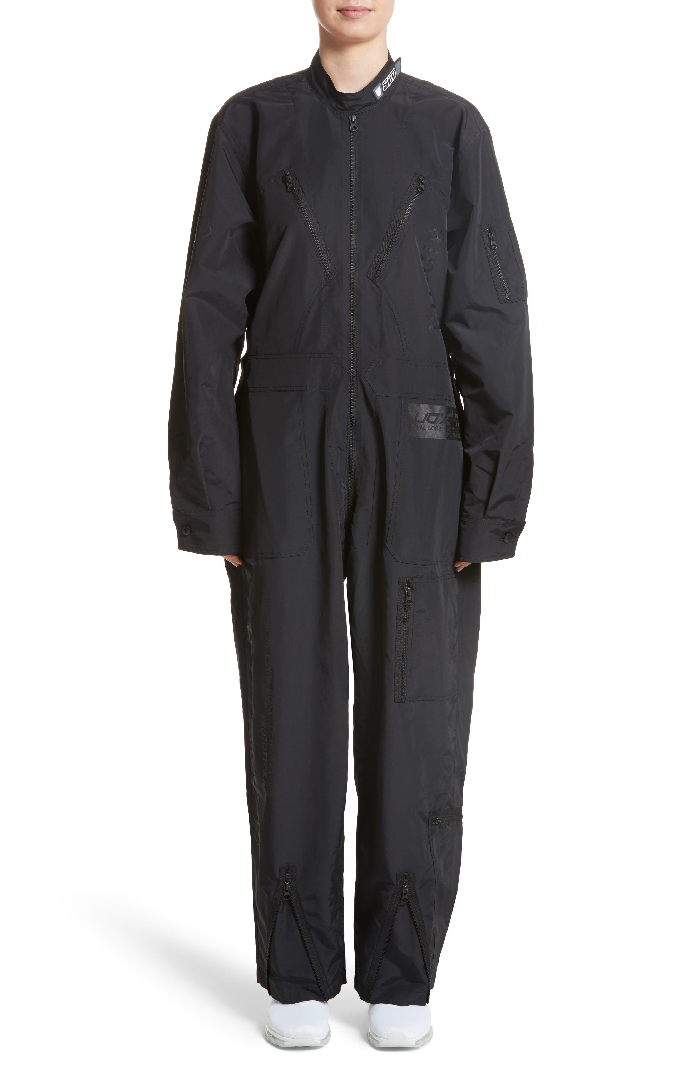 Kaneda Boiler Suit,                         Main,                         color, Black