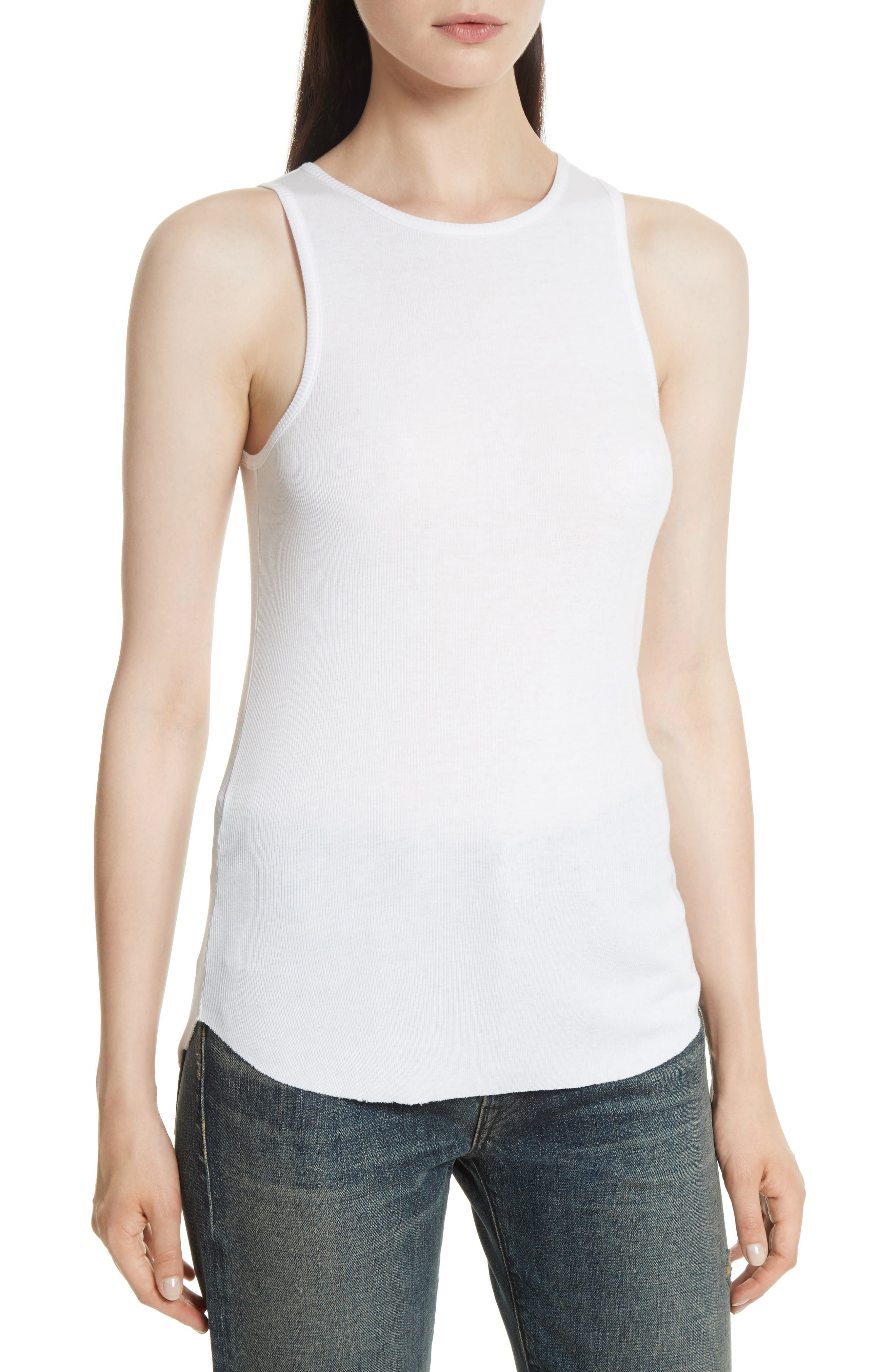 Alternate Image 1 Selected - Vince High Neck Tank
