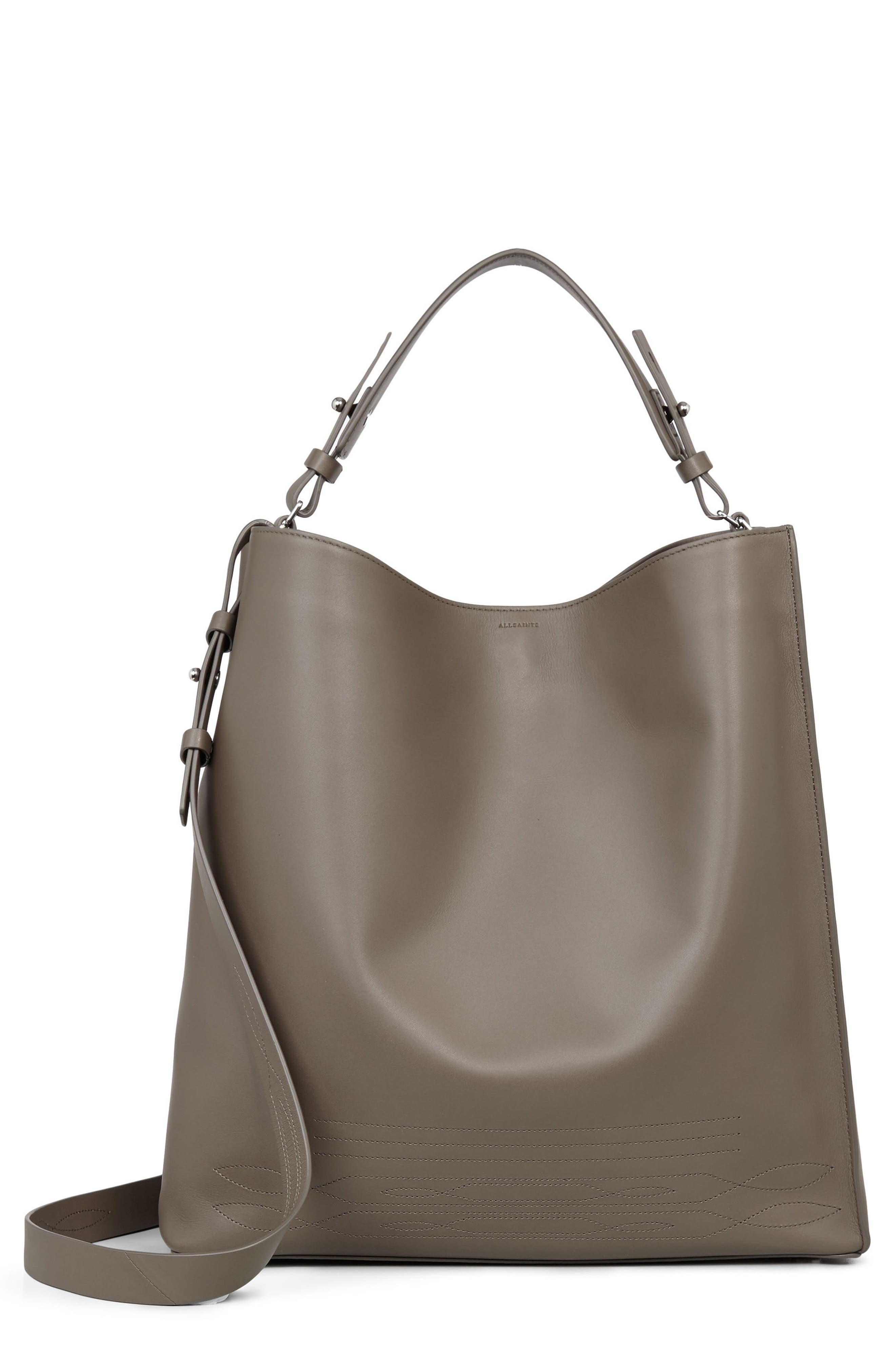 Alternate Image 1 Selected - ALLSAINTS Cooper East/West Calfskin Leather Tote