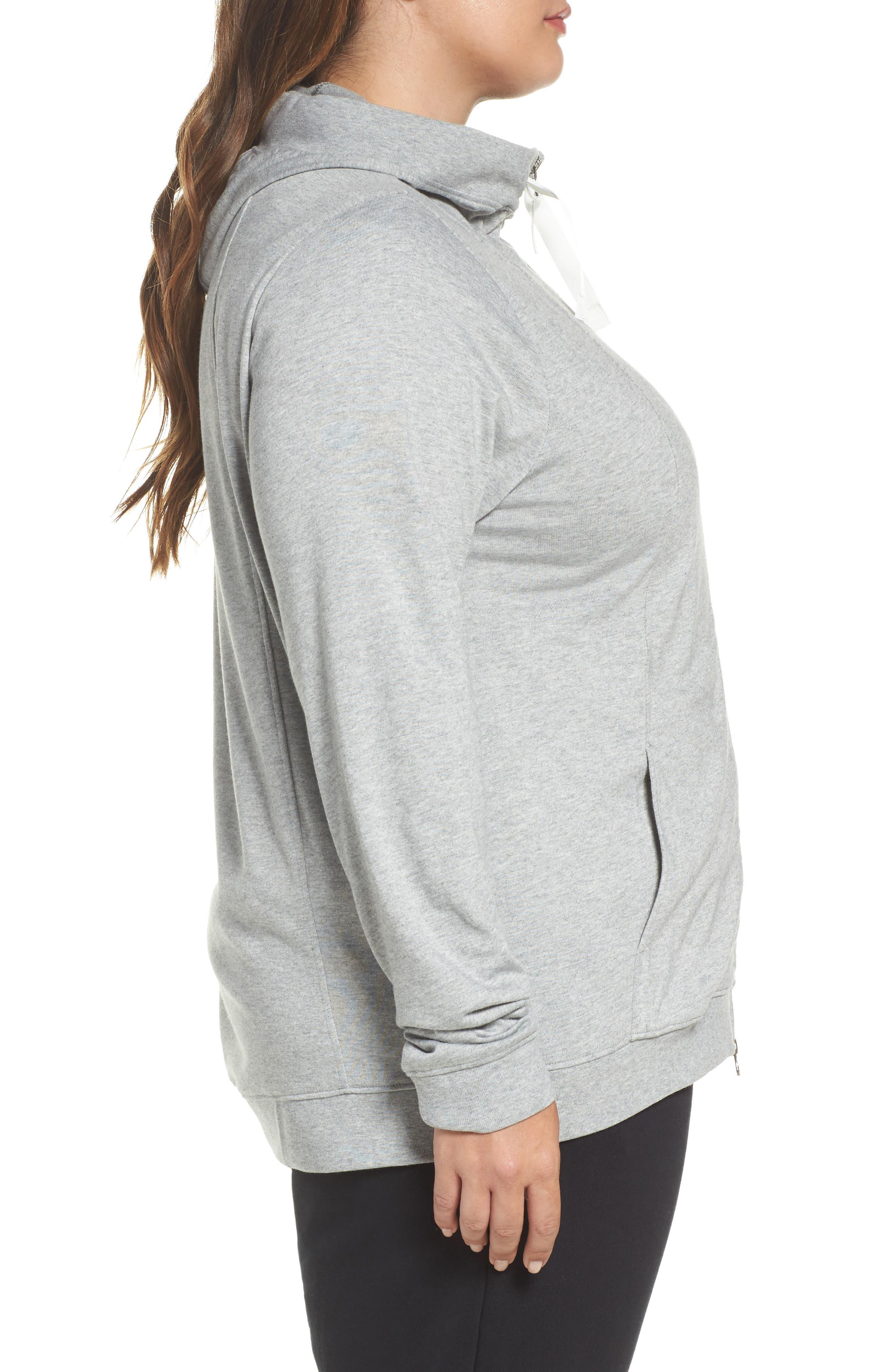 Alternate Image 3  - Nike Sportswear Gym Classic Hoodie (Plus Size)