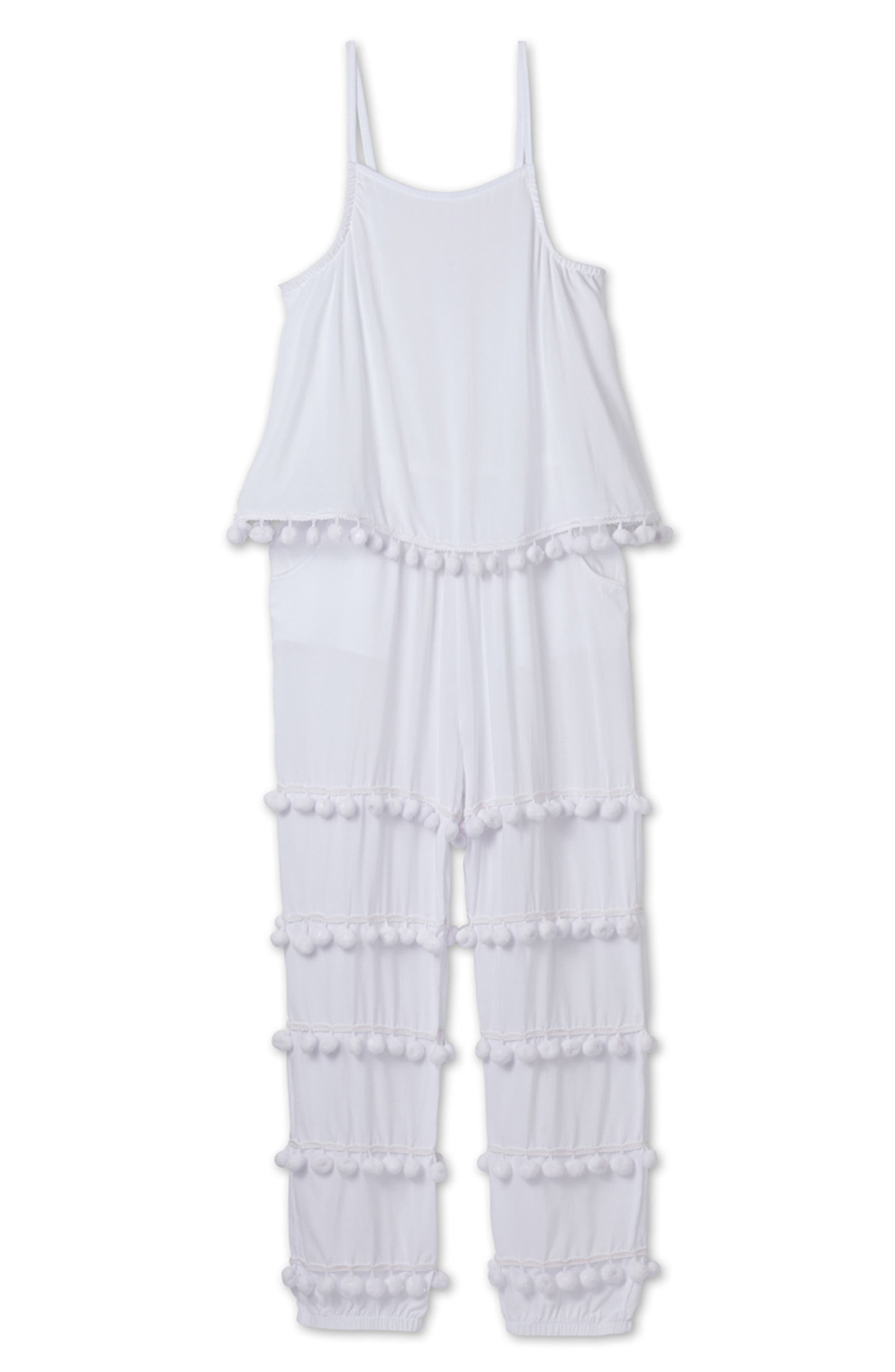 Stella Cove Pompom Cover-Up Jumpsuit (Toddler Girls & Little Girls)