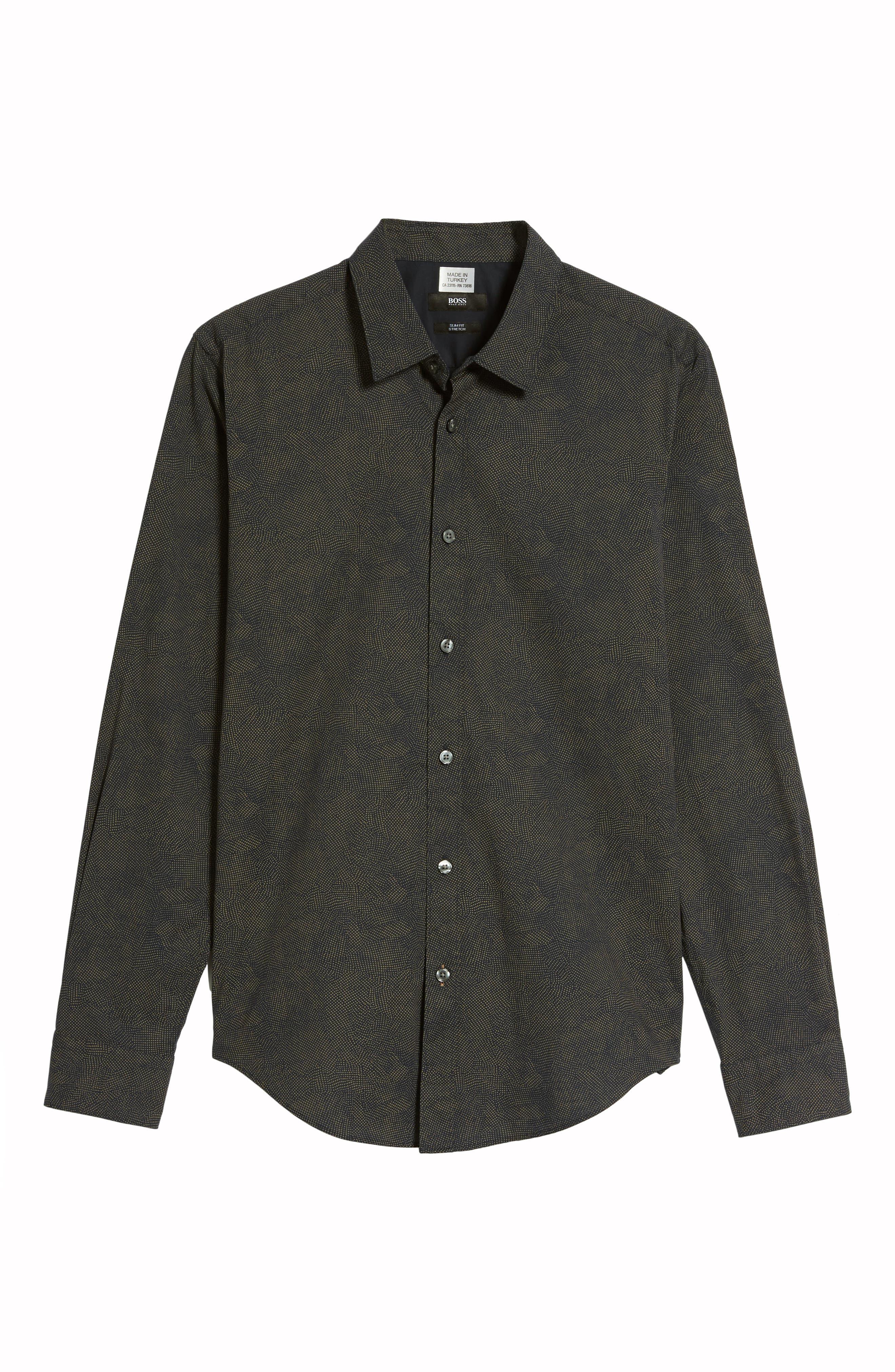 Alternate Image 5  - BOSS Hugo Boss Ronni Print Trim Fit Sport Shirt