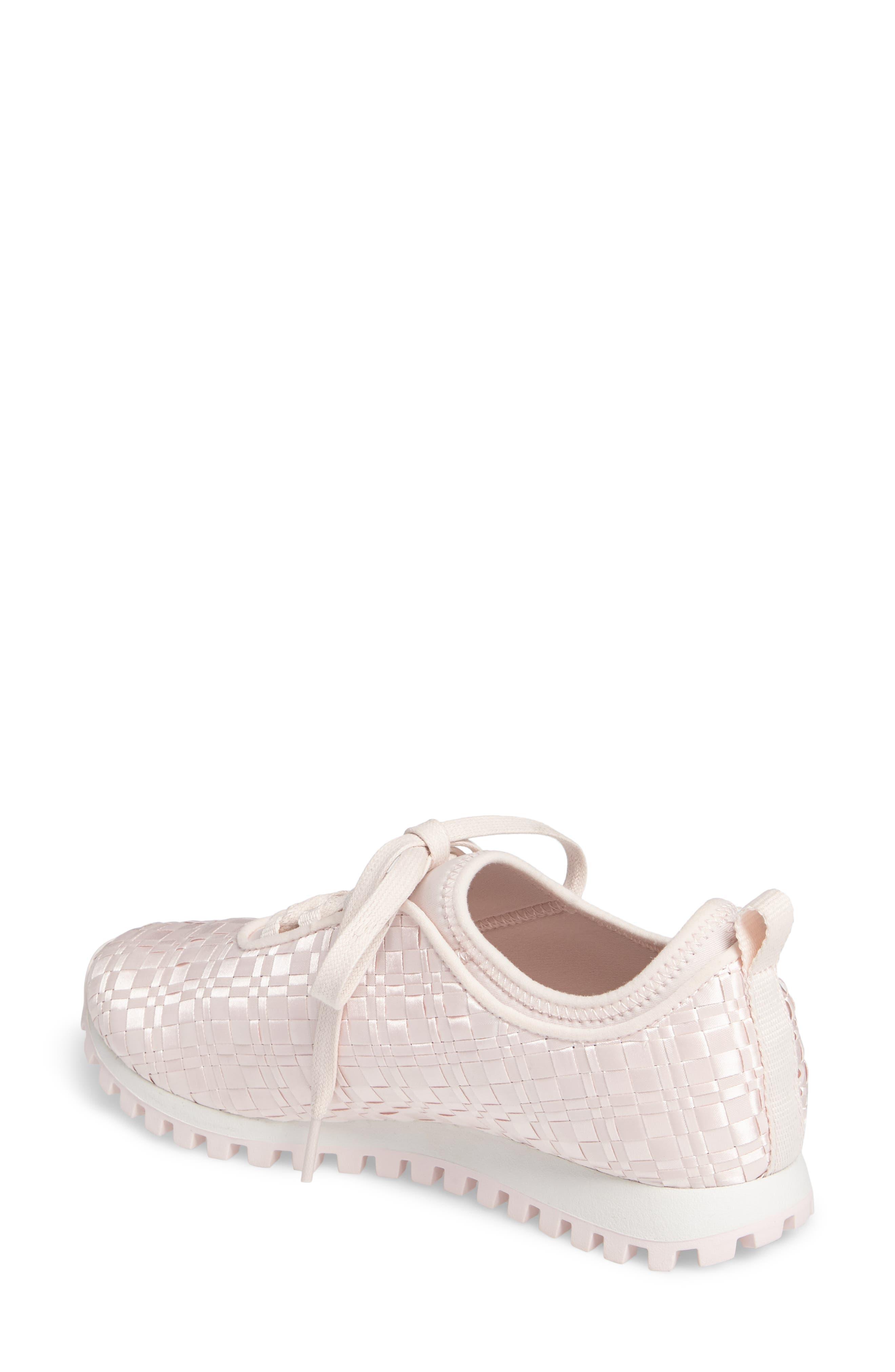 Lynn Sock Fit Woven Sneaker,                             Alternate thumbnail 2, color,                             Dusty Rose
