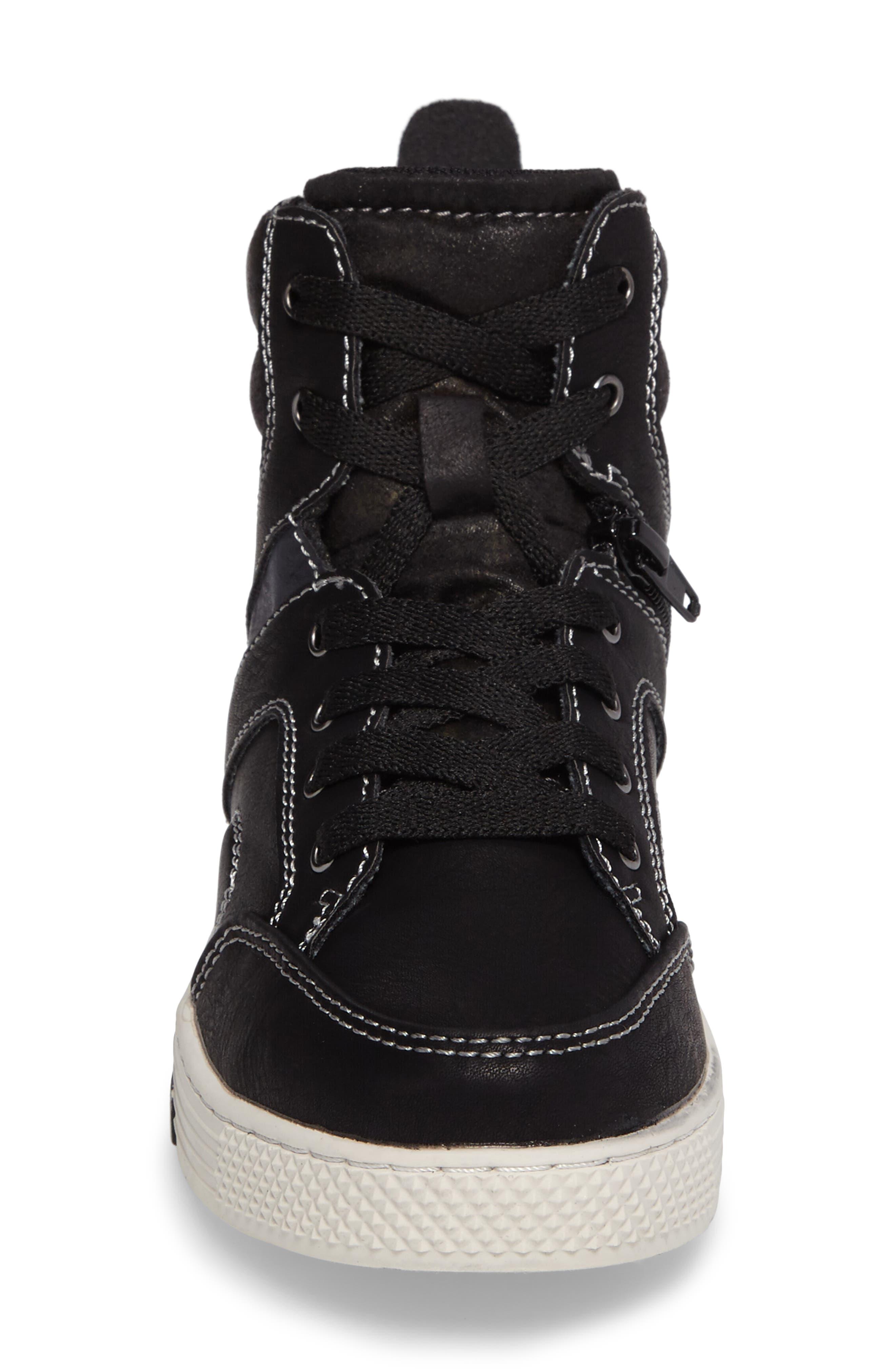 Cooler High Top Sneaker,                             Alternate thumbnail 4, color,                             Black