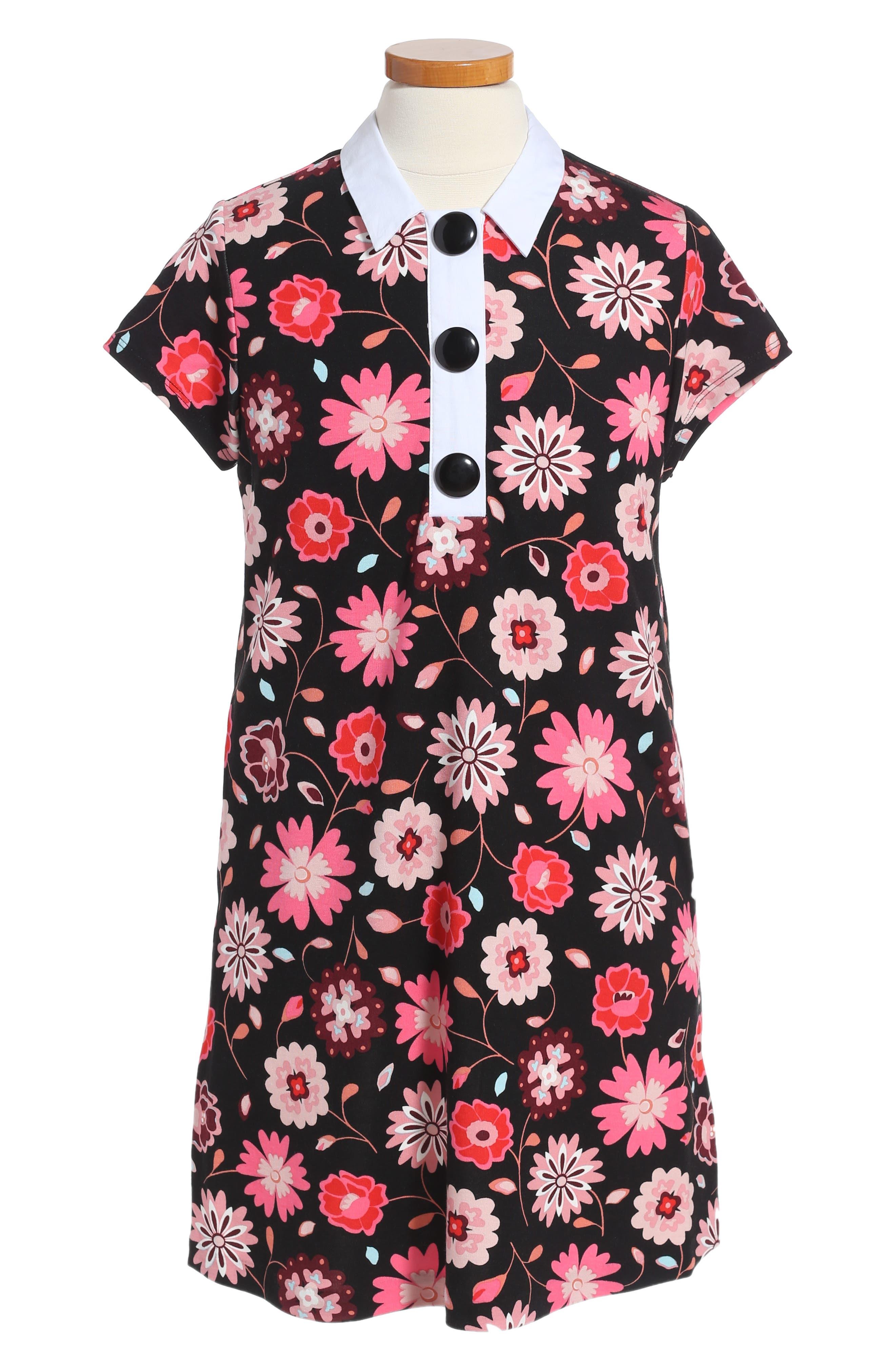 collared shift dress,                         Main,                         color, Multi