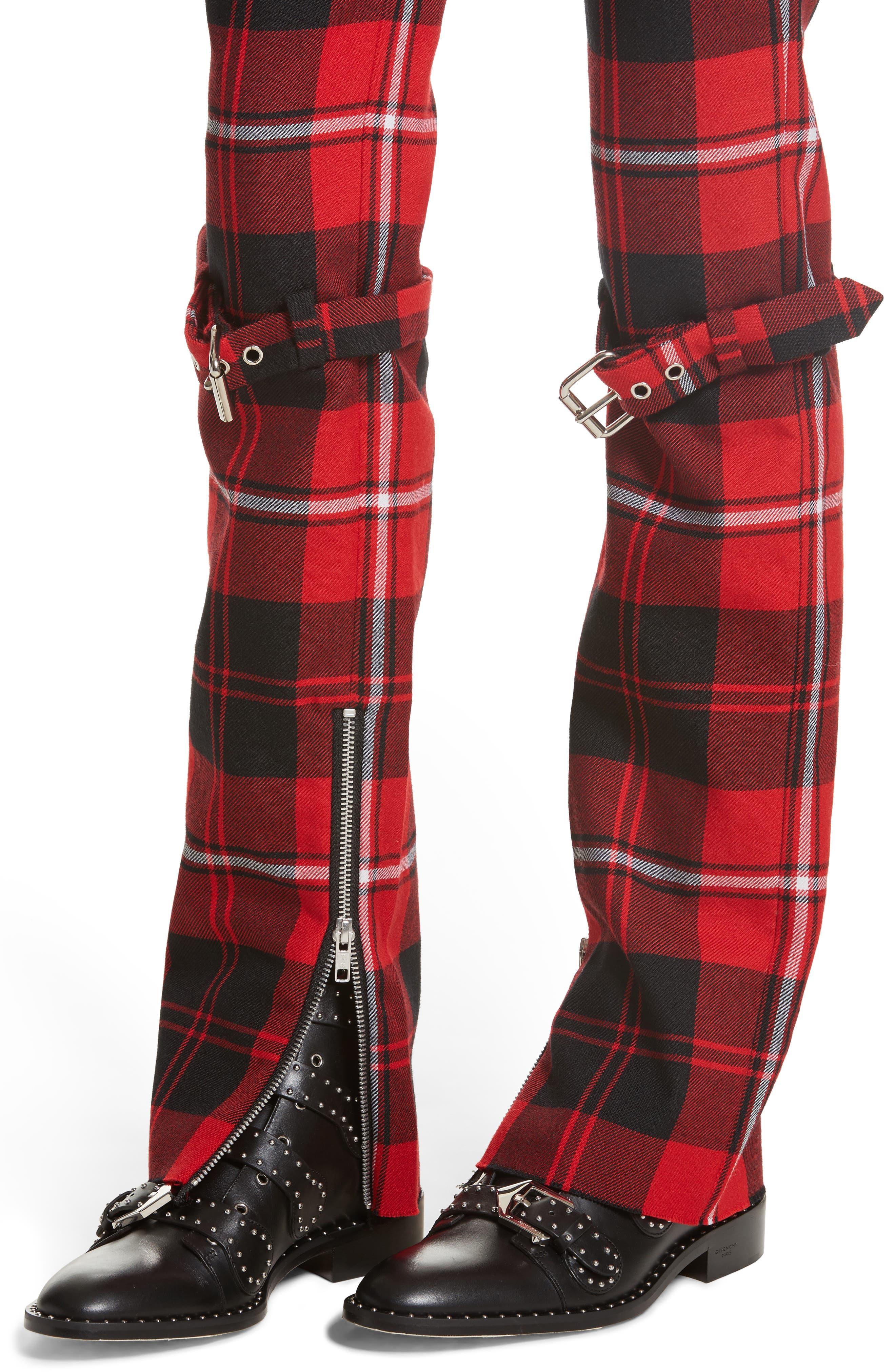 Alternate Image 4  - Dilara Findikoglu Manson Tartan Plaid Wool Pants