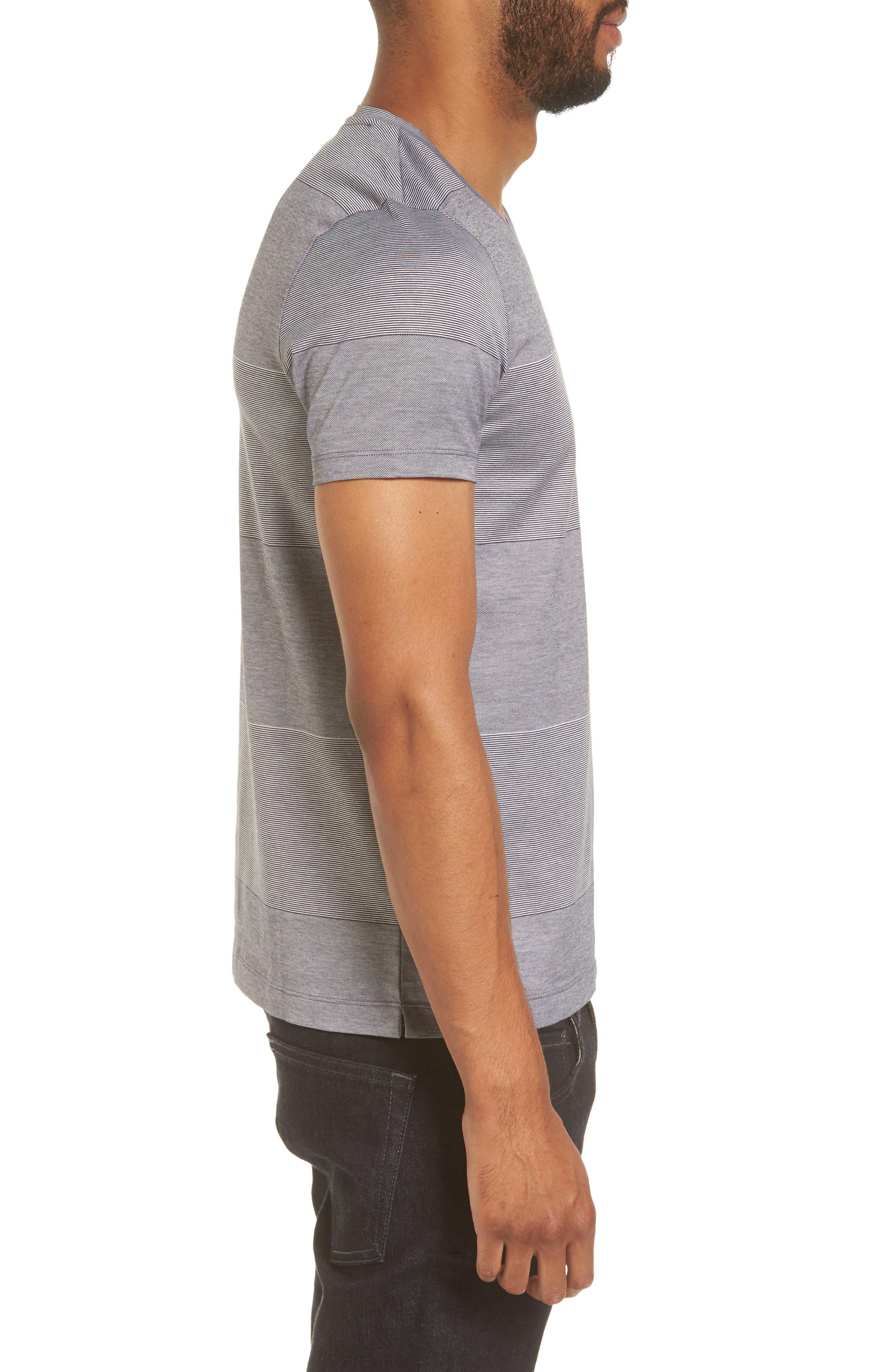 Alternate Image 3  - BOSS Slim Fit Stripe V-Neck T-Shirt