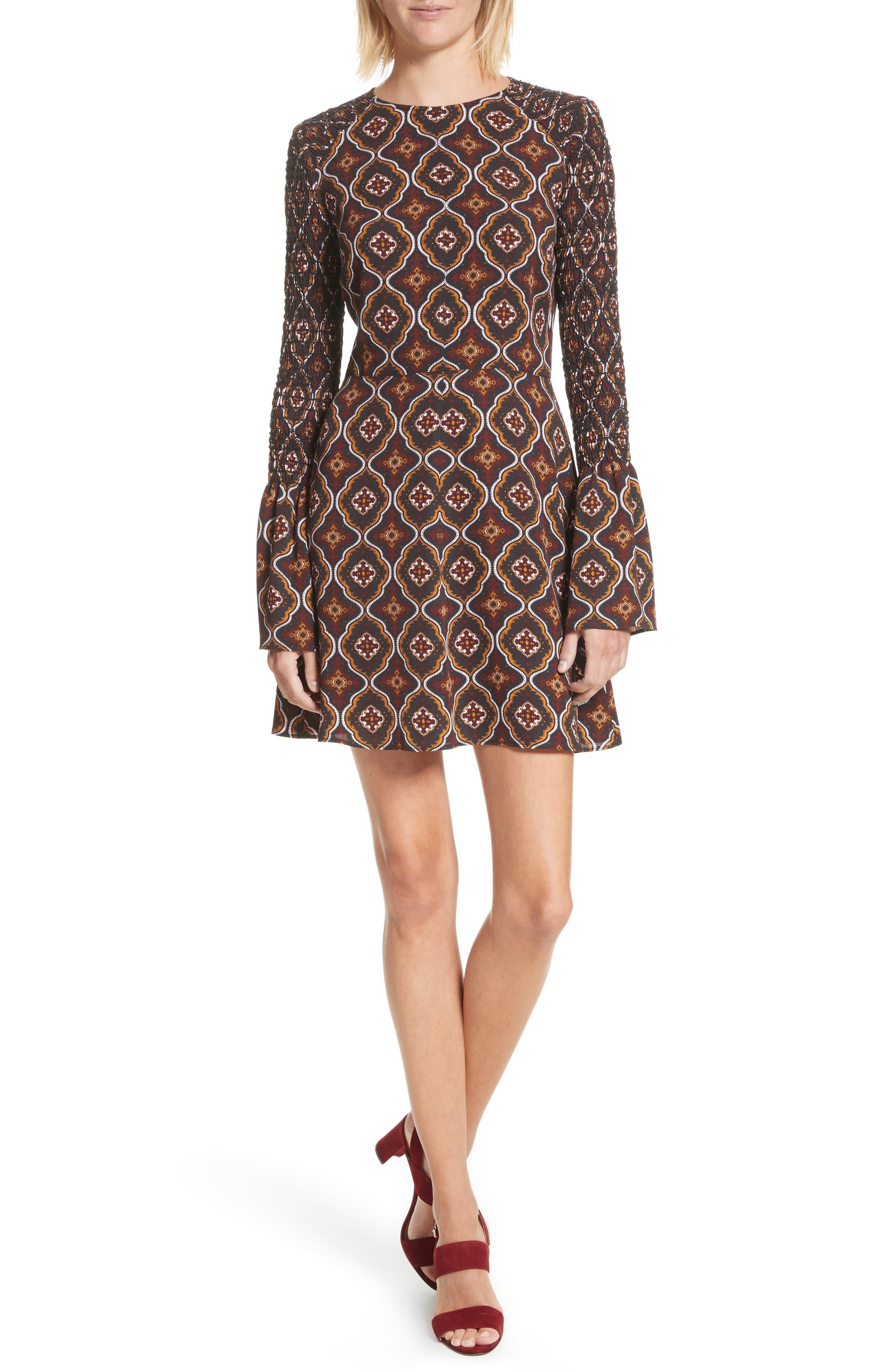 A.L.C. Alexa Print Silk Dress