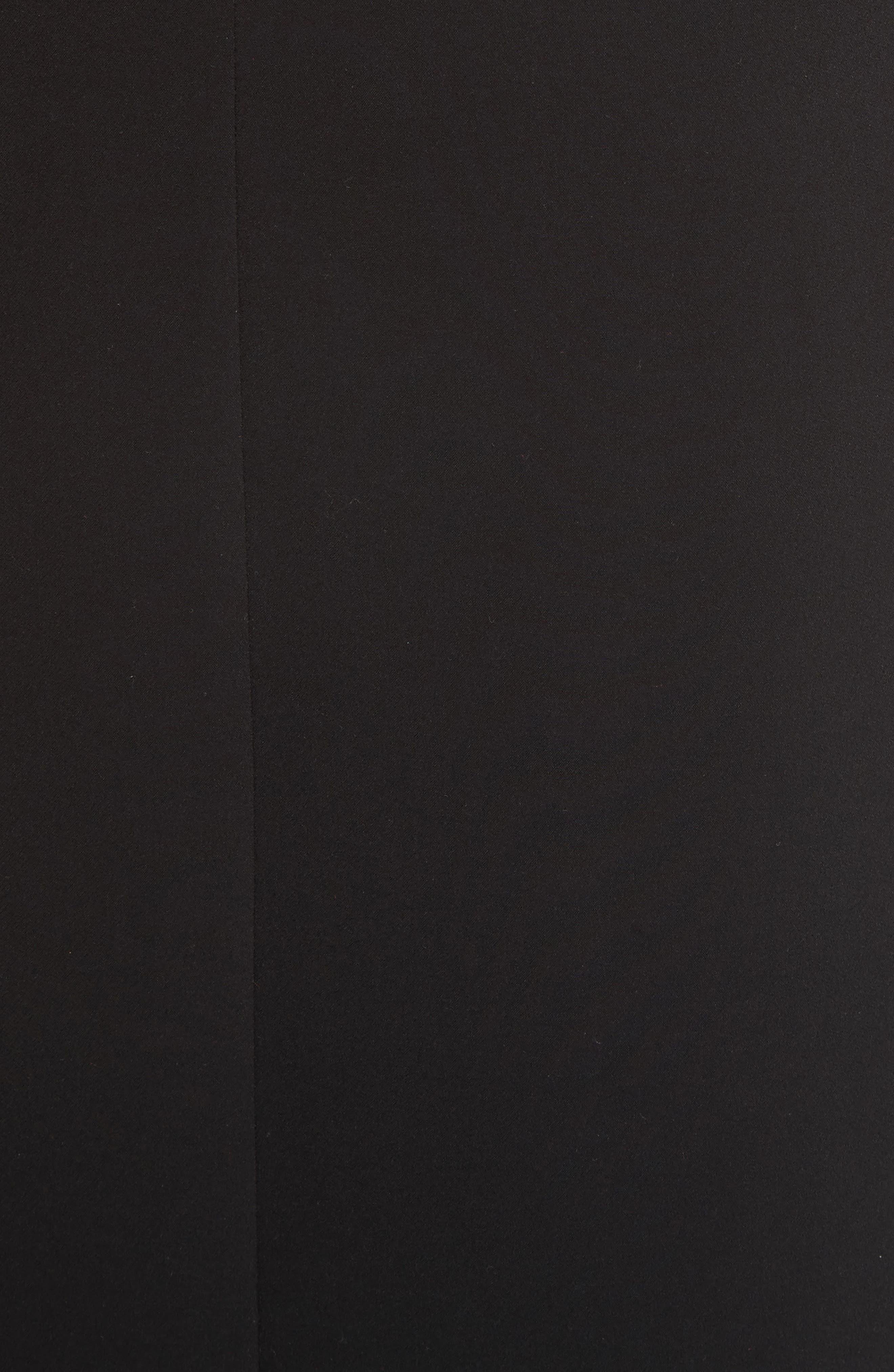 Ruffle Button Midi Dress,                             Alternate thumbnail 5, color,                             Black