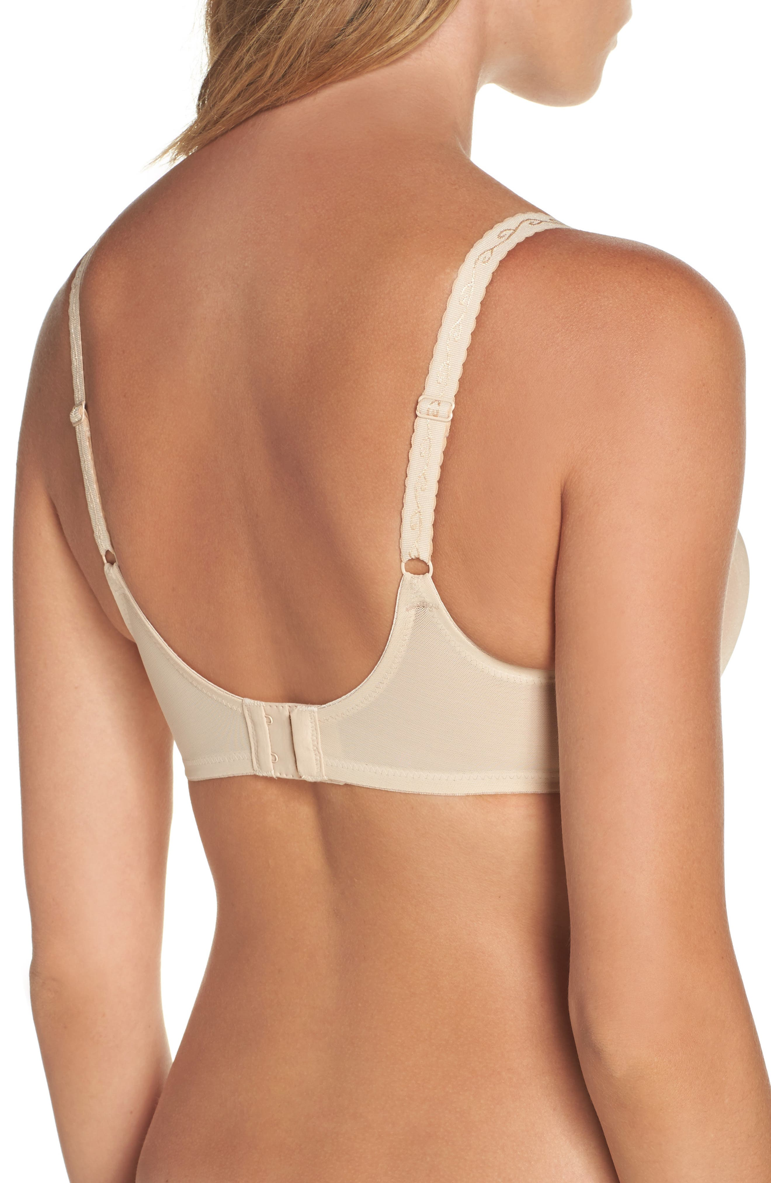 'Simple Shaping' Minimizing Underwire Bra,                             Alternate thumbnail 2, color,                             Naturally Nude