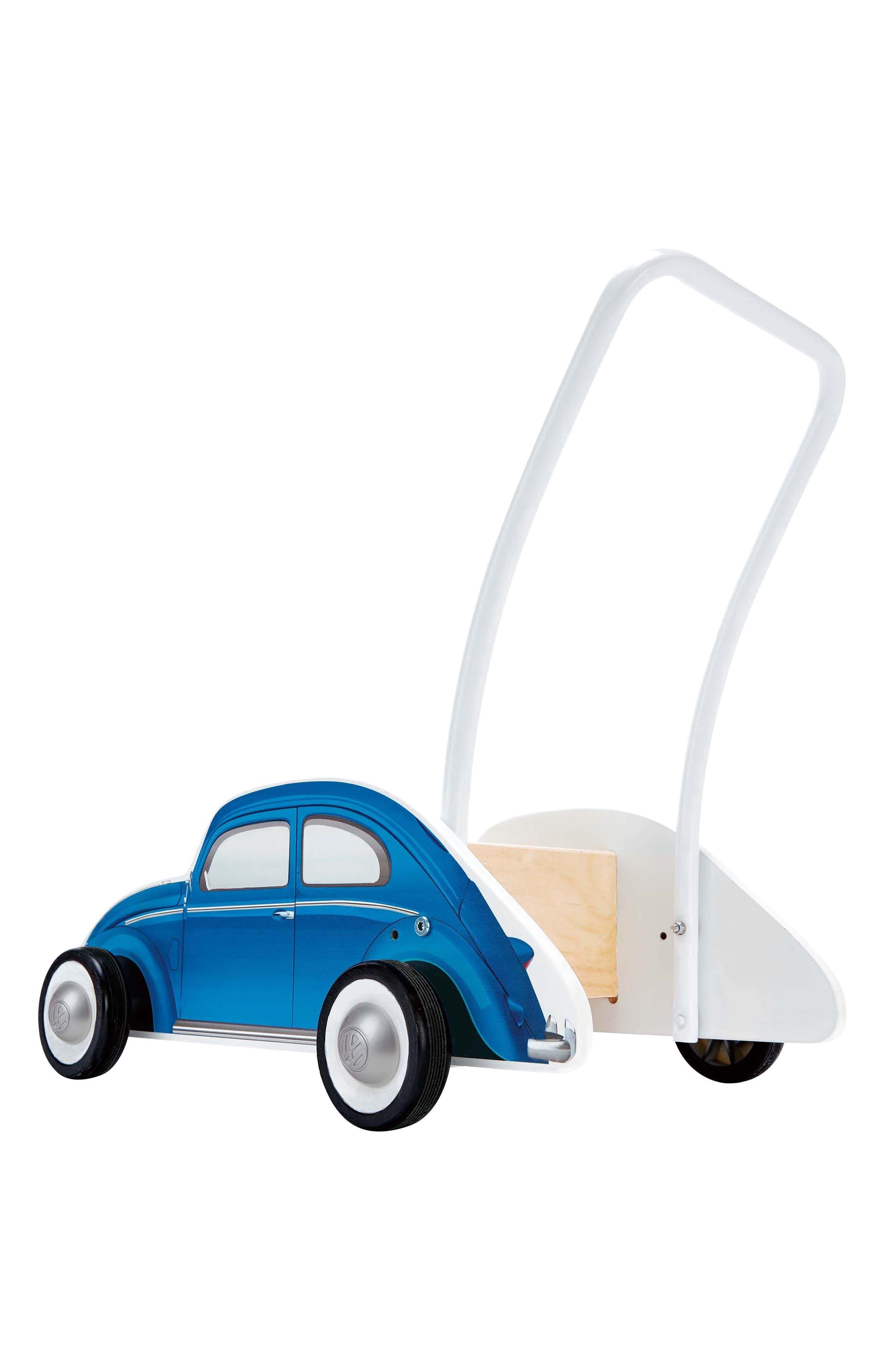 Wooden Push Car,                             Alternate thumbnail 2, color,                             Blue