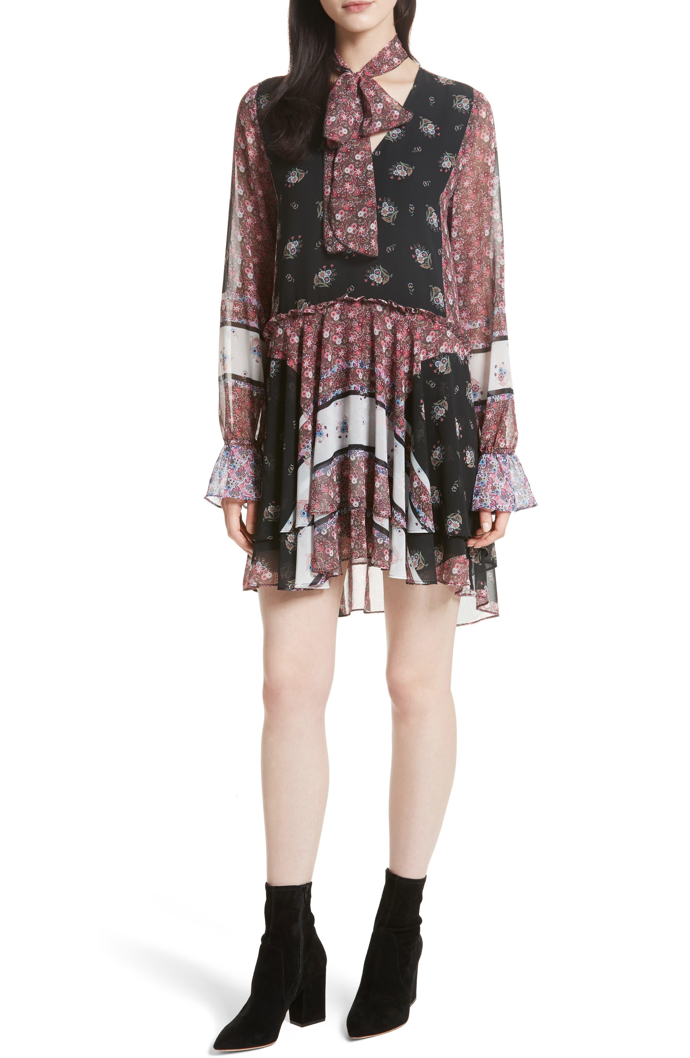 Fiona Print Shift Dress,                         Main,                         color, Ditsy Scarf Print