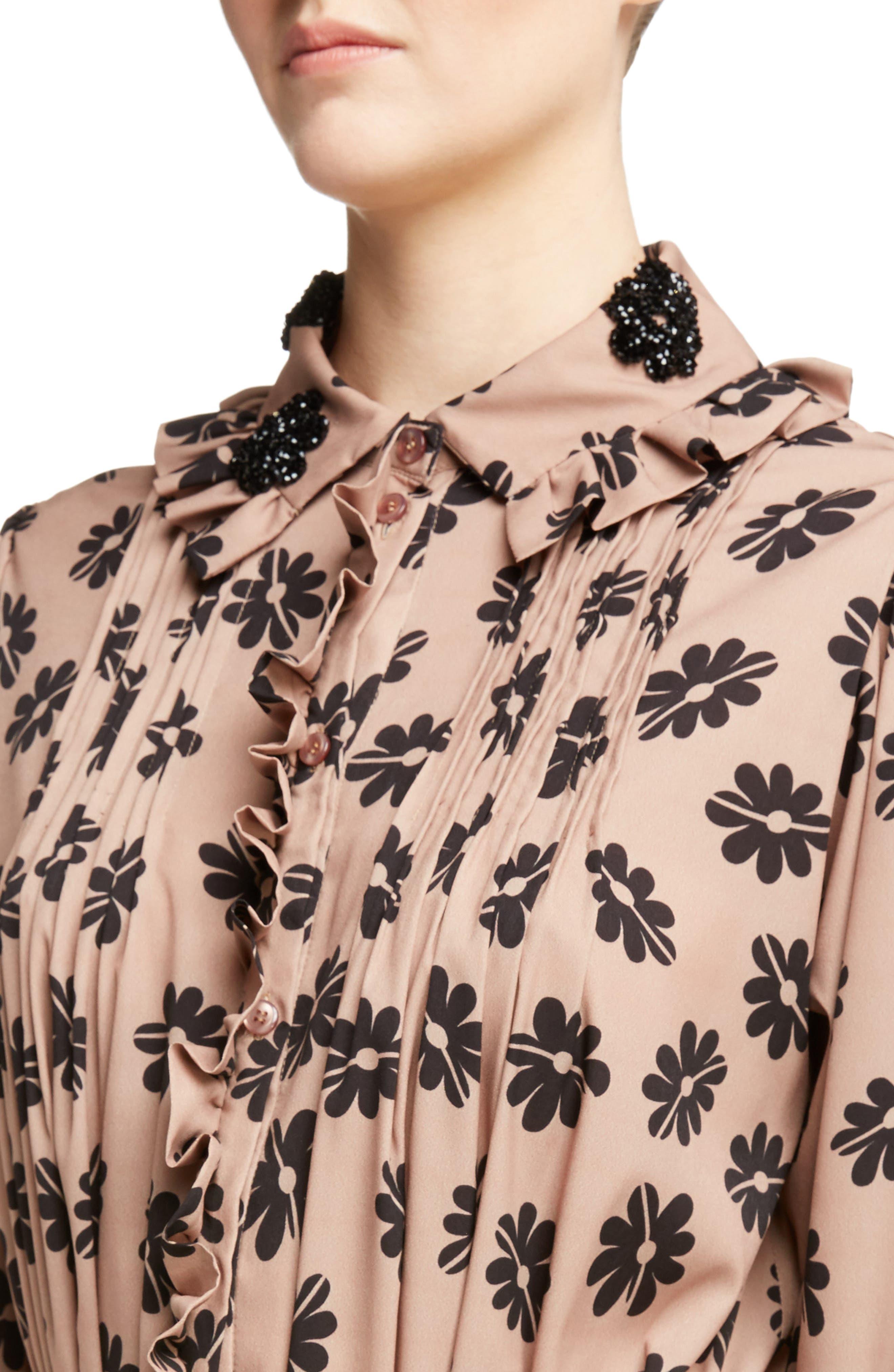 Alternate Image 4  - Simone Rocha Beaded Pleat Front Shirtdress