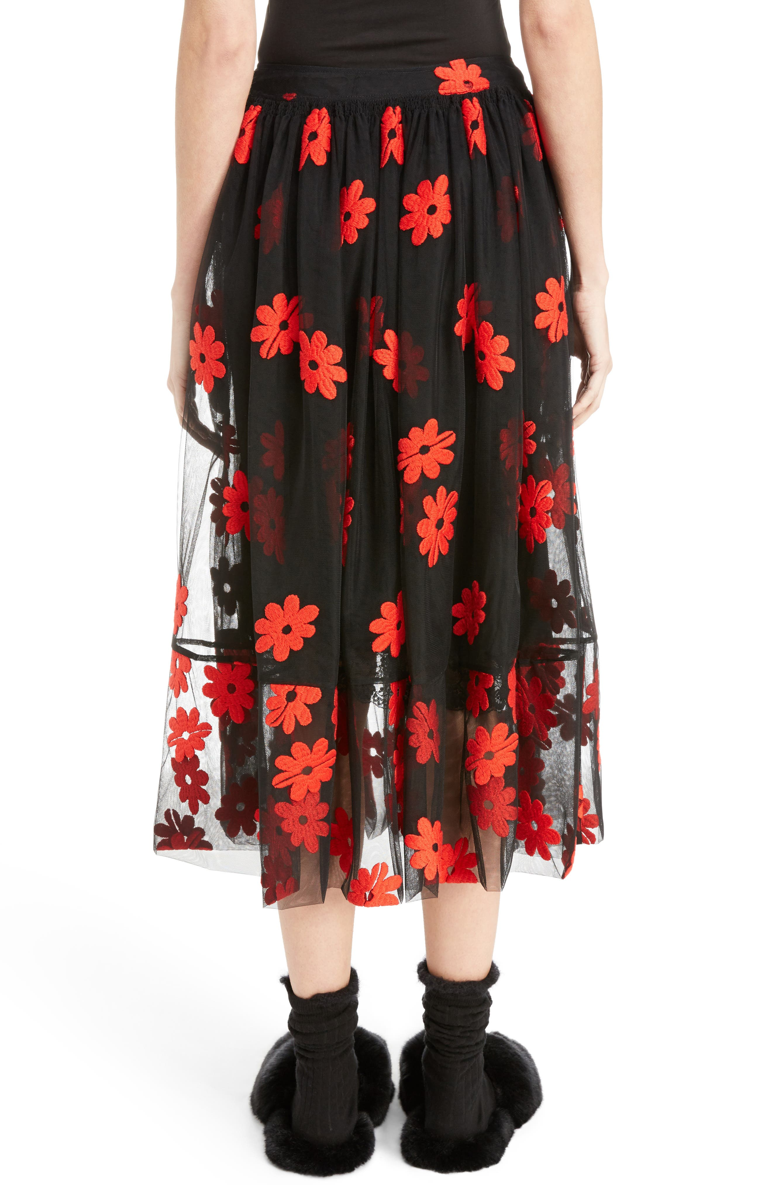 Alternate Image 2  - Simone Rocha Floral Embroidered Tulle Skirt