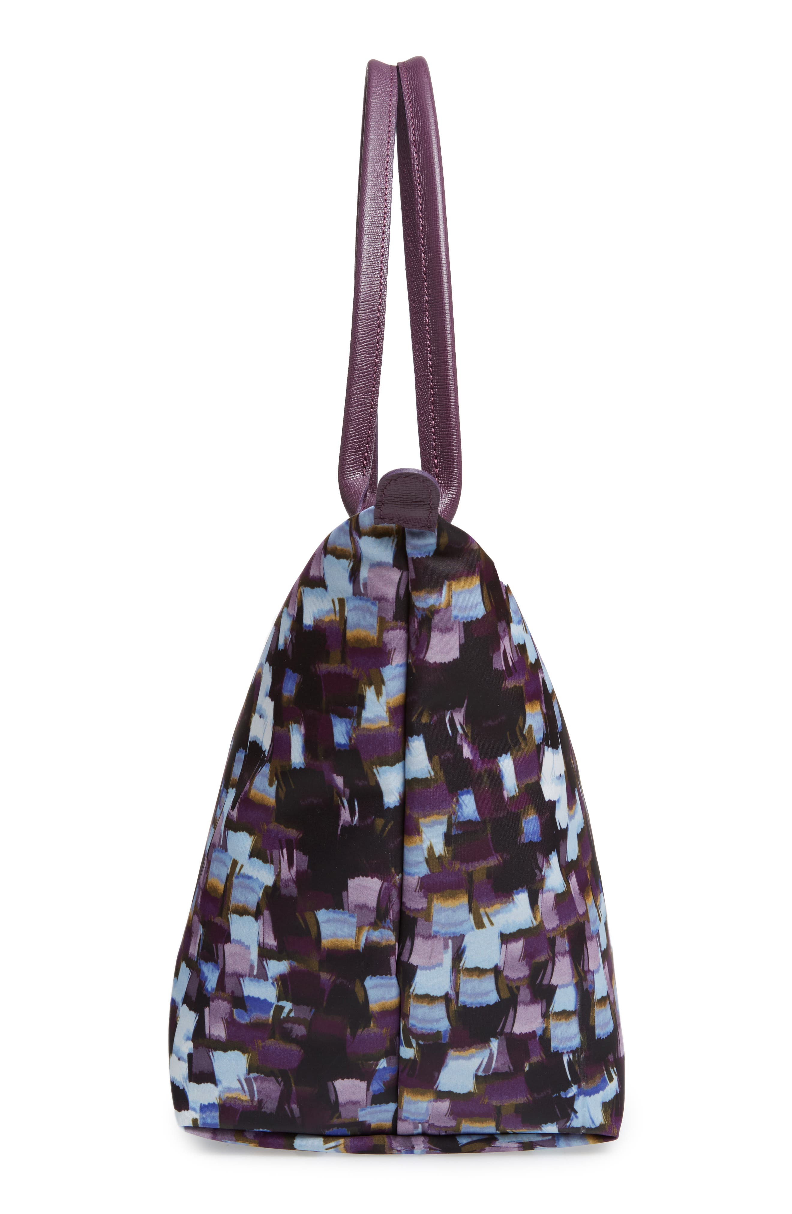Le Pliage Neo - Vibrations Large Nylon Tote,                             Alternate thumbnail 3, color,                             Deep Purple
