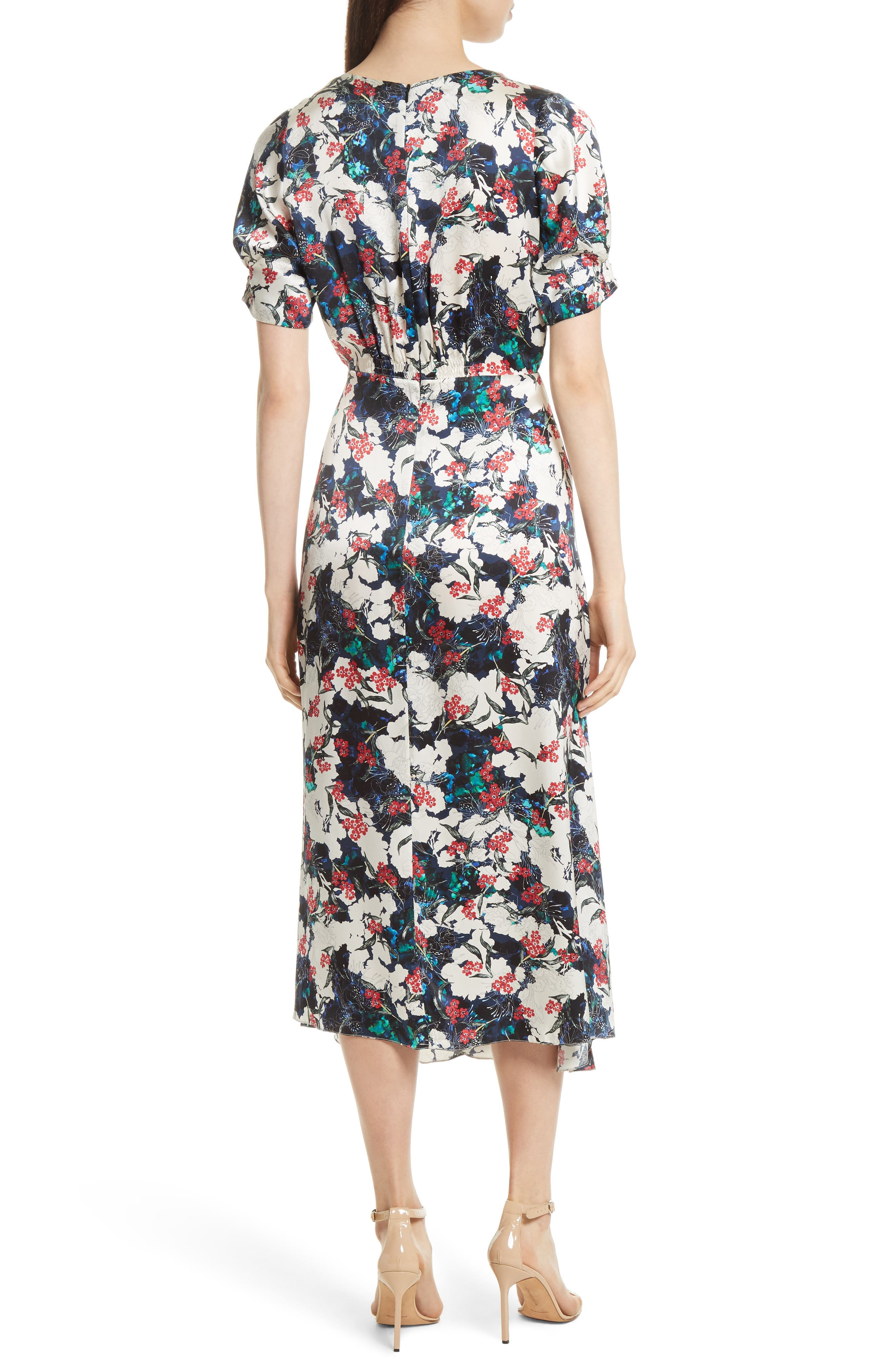 Alternate Image 2  - SALONI Lea Silk Midi Dress